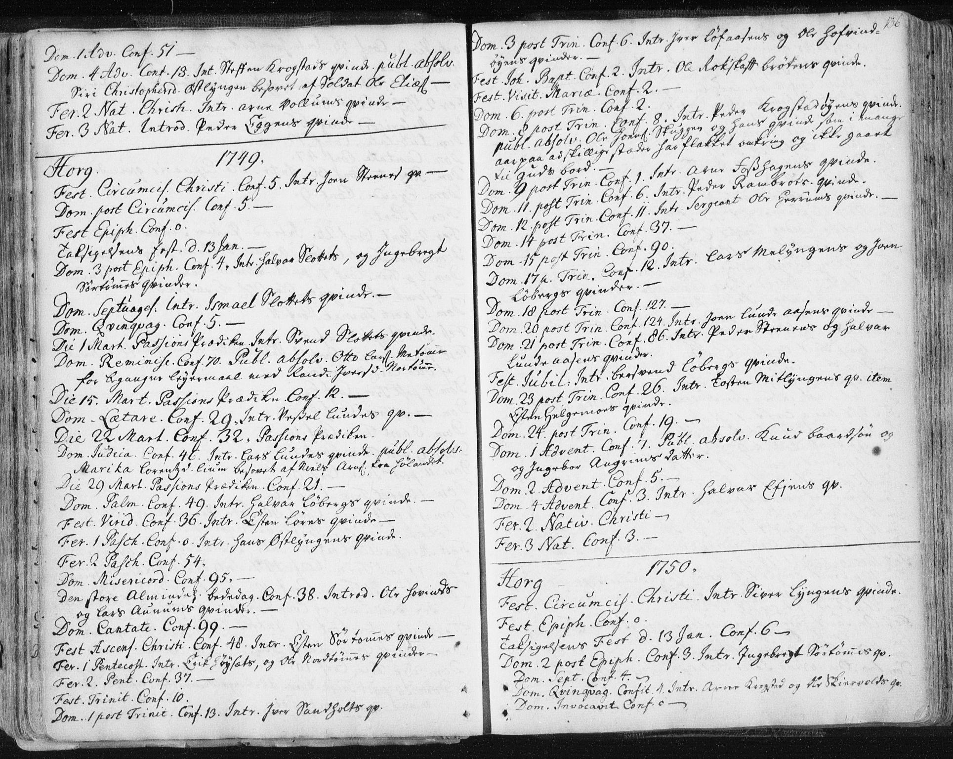 SAT, Ministerialprotokoller, klokkerbøker og fødselsregistre - Sør-Trøndelag, 687/L0991: Ministerialbok nr. 687A02, 1747-1790, s. 136