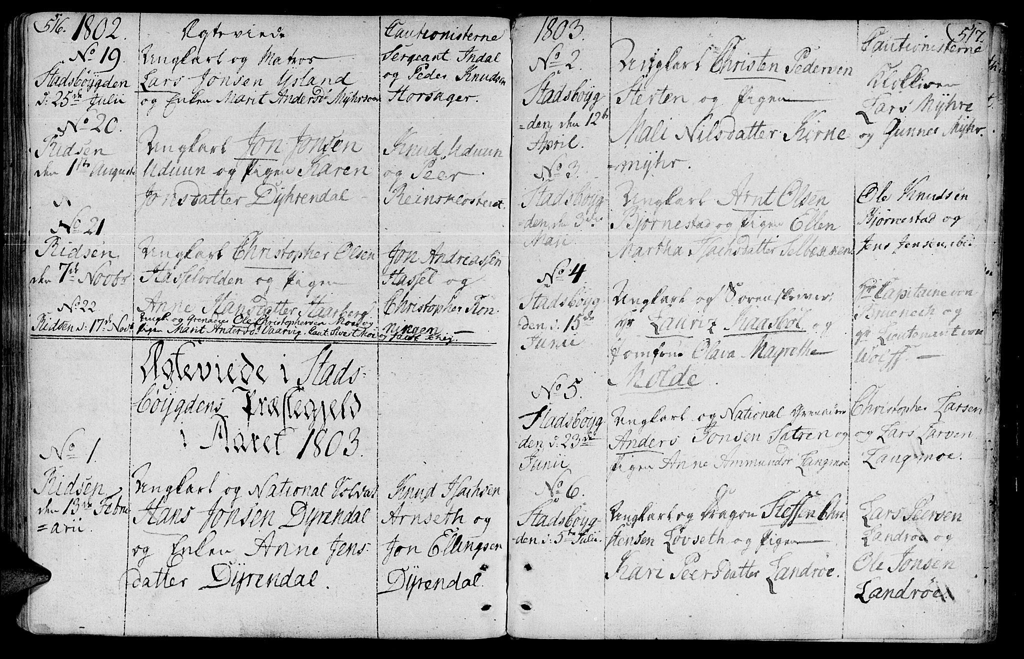 SAT, Ministerialprotokoller, klokkerbøker og fødselsregistre - Sør-Trøndelag, 646/L0606: Ministerialbok nr. 646A04, 1791-1805, s. 516-517