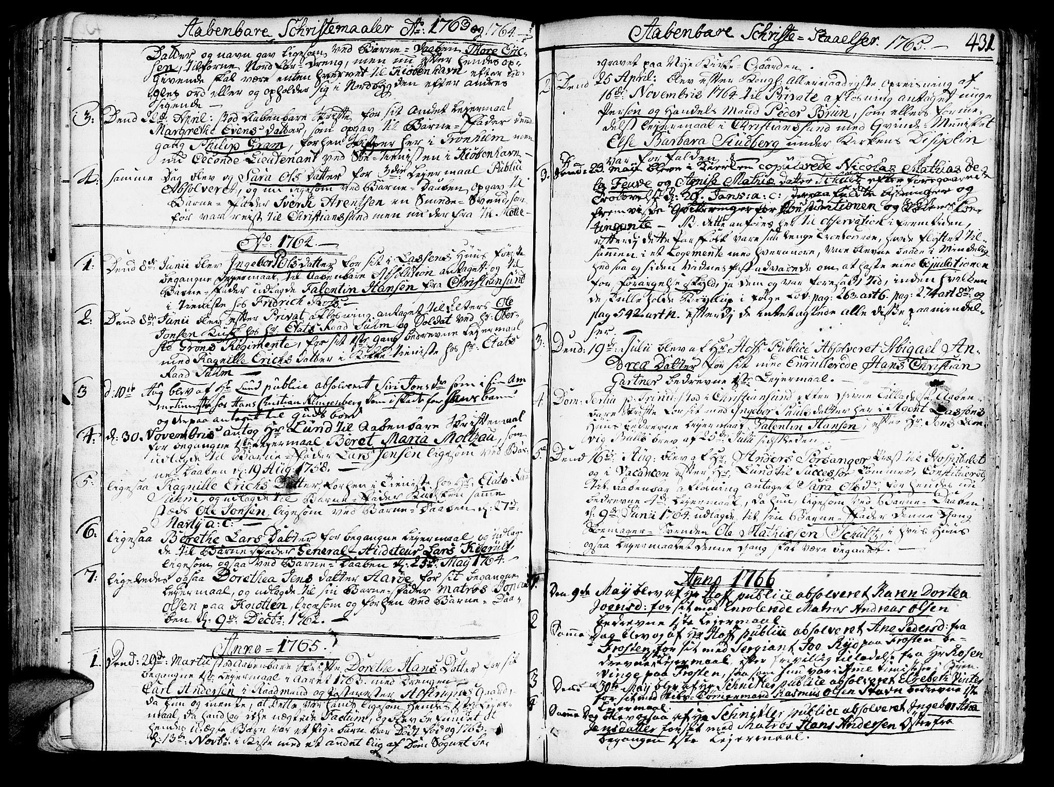 SAT, Ministerialprotokoller, klokkerbøker og fødselsregistre - Sør-Trøndelag, 602/L0103: Ministerialbok nr. 602A01, 1732-1774, s. 431