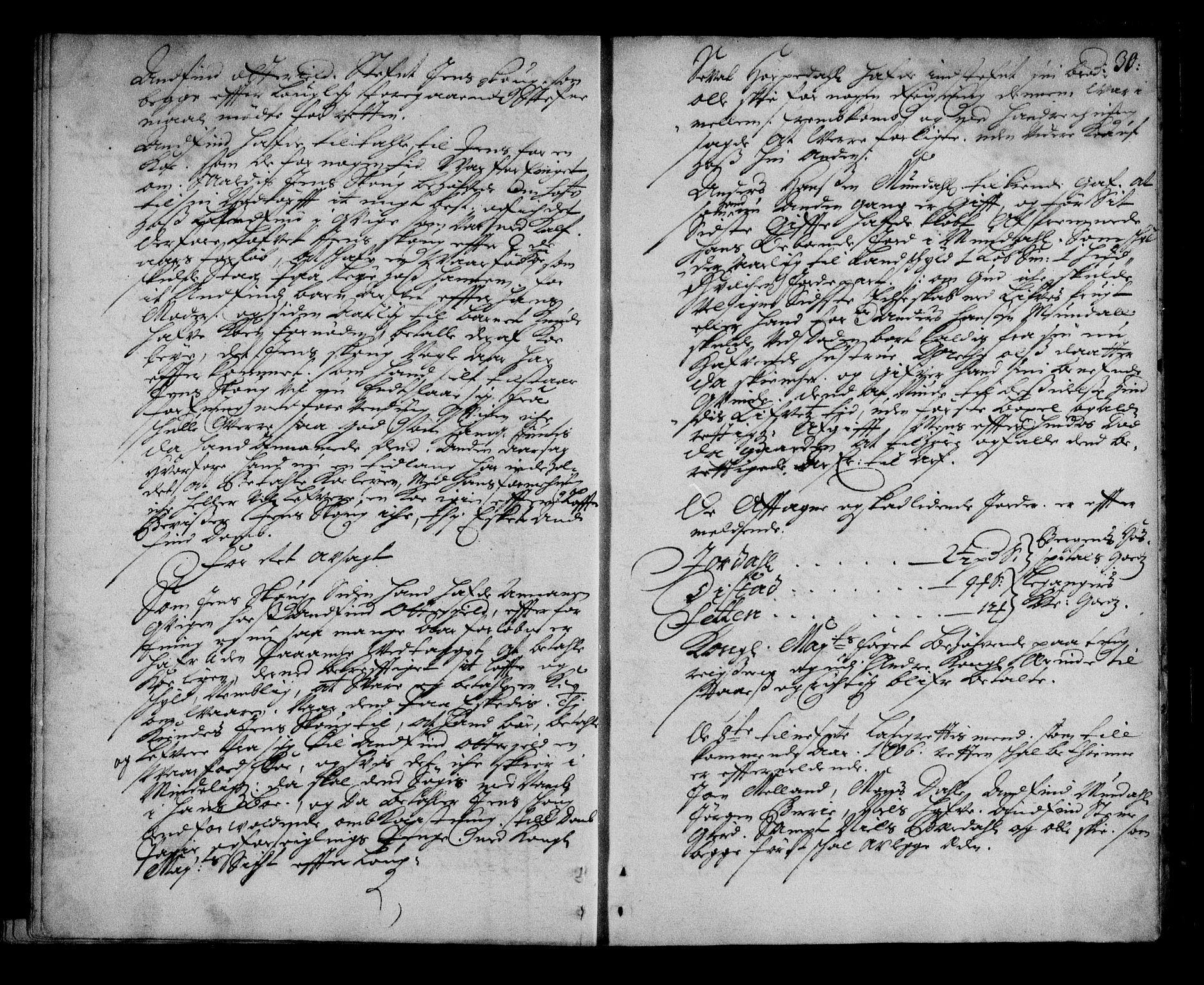 SAB, Ytre Sogn tingrett, F/Fa/L0026: Tingbok (justisprotokoll), 1705-1706, s. 29b-30a
