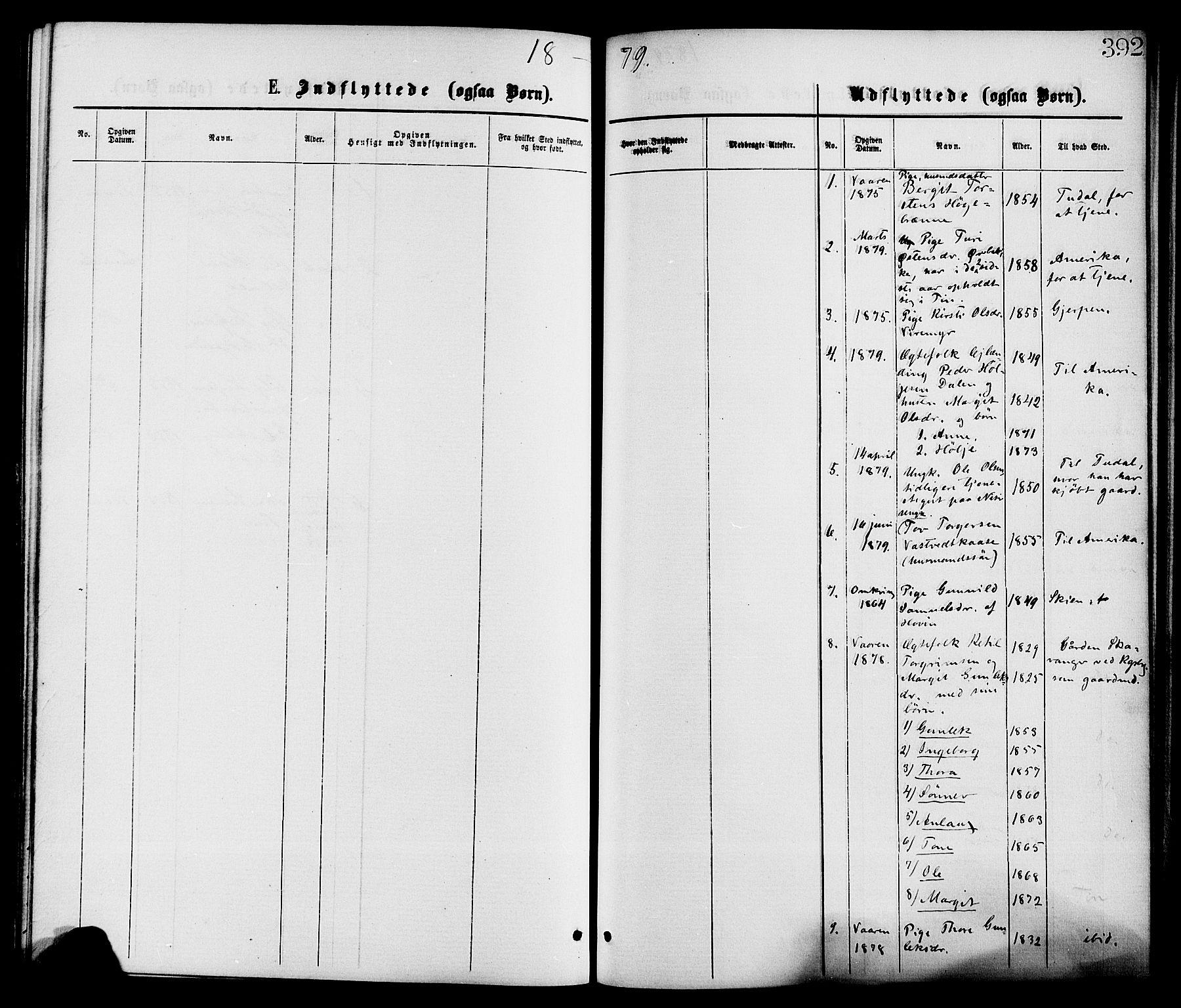SAKO, Gransherad kirkebøker, F/Fa/L0004: Ministerialbok nr. I 4, 1871-1886, s. 392
