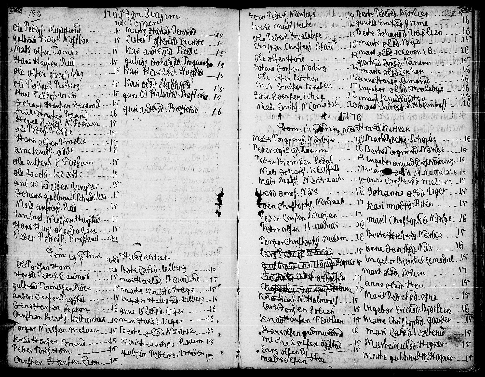 SAH, Land prestekontor, Ministerialbok nr. 5, 1765-1784, s. 192-193