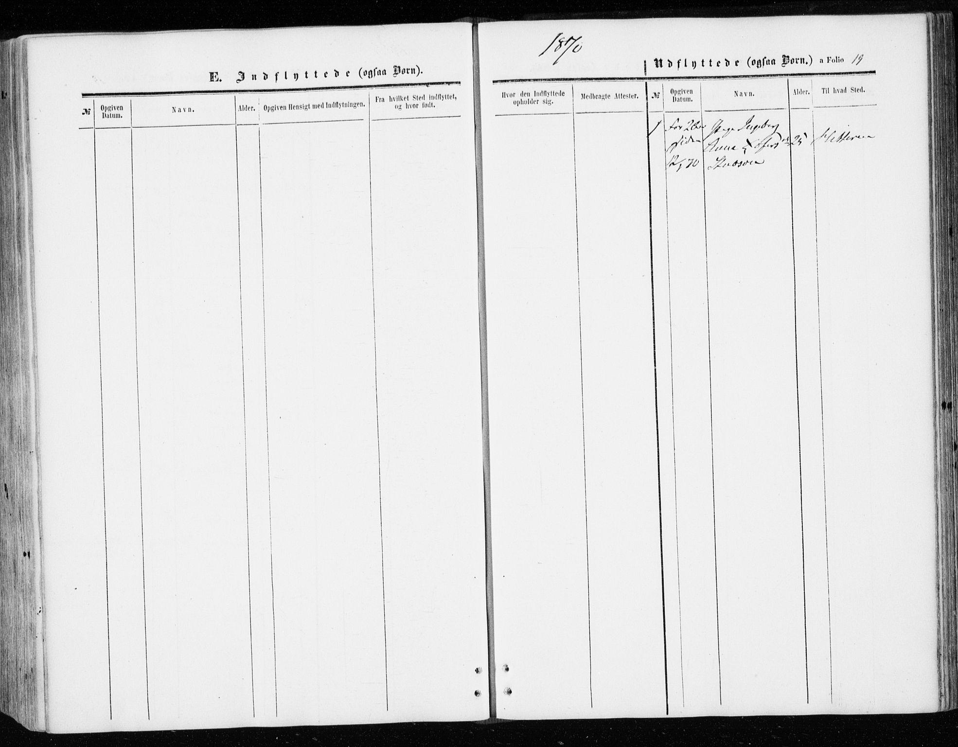 SAT, Ministerialprotokoller, klokkerbøker og fødselsregistre - Sør-Trøndelag, 646/L0612: Ministerialbok nr. 646A10, 1858-1869, s. 19