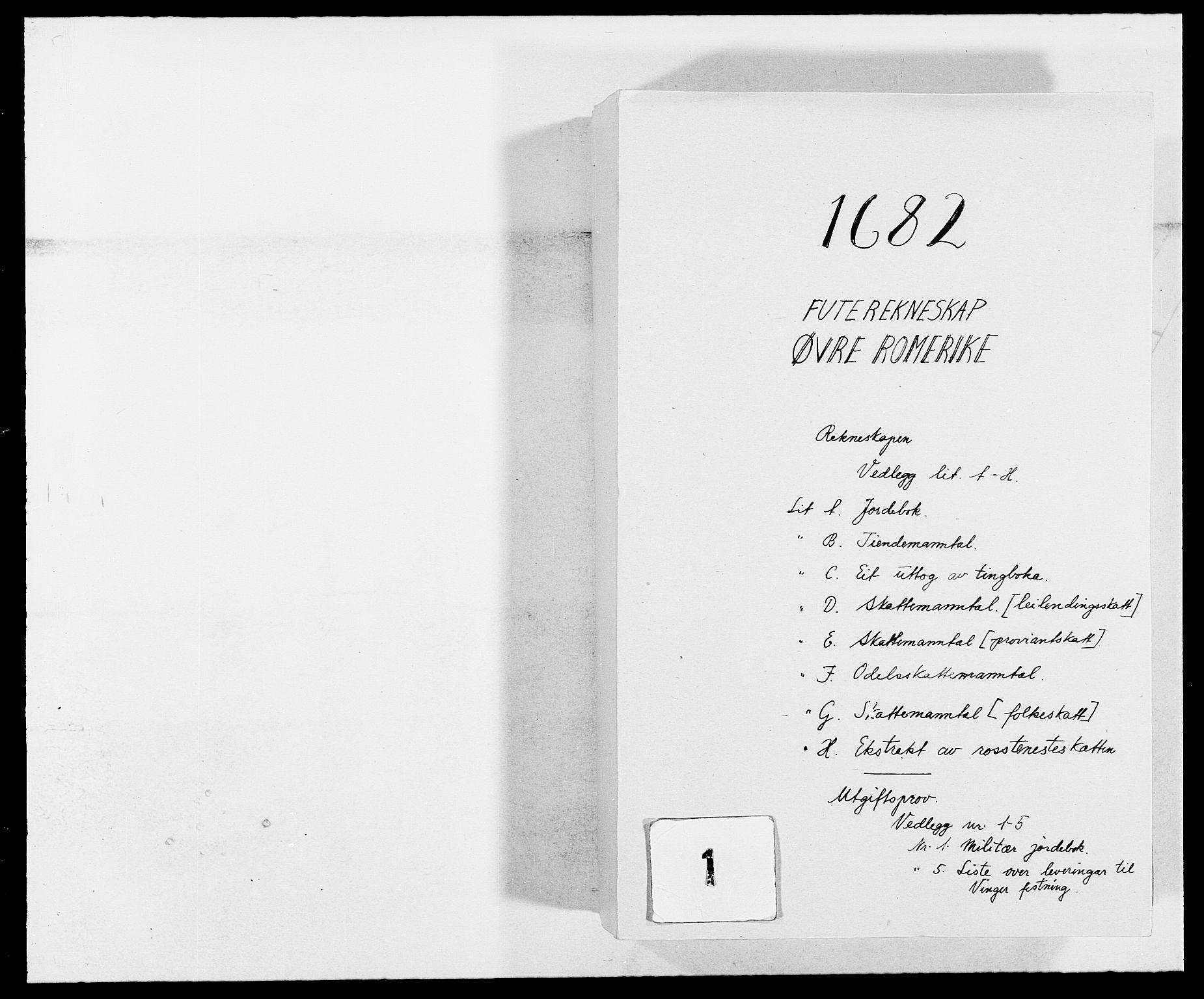 RA, Rentekammeret inntil 1814, Reviderte regnskaper, Fogderegnskap, R12/L0697: Fogderegnskap Øvre Romerike, 1682-1683, s. 1