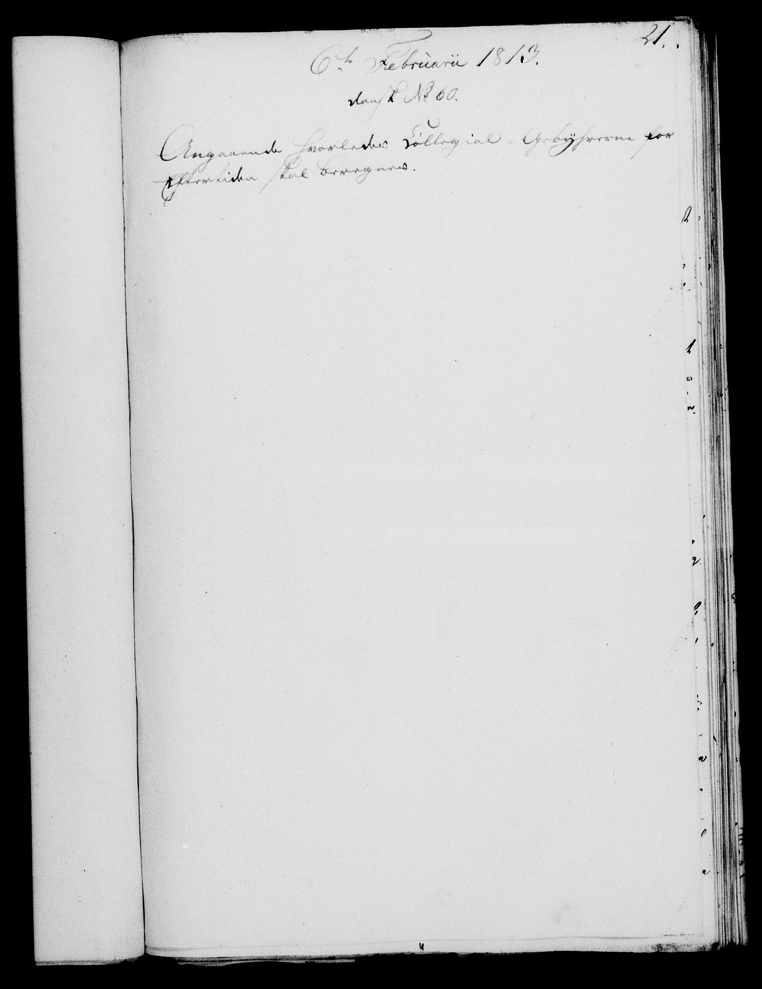 RA, Rentekammeret, Kammerkanselliet, G/Gf/Gfa/L0095: Norsk relasjons- og resolusjonsprotokoll (merket RK 52.95), 1813-1814, s. 101