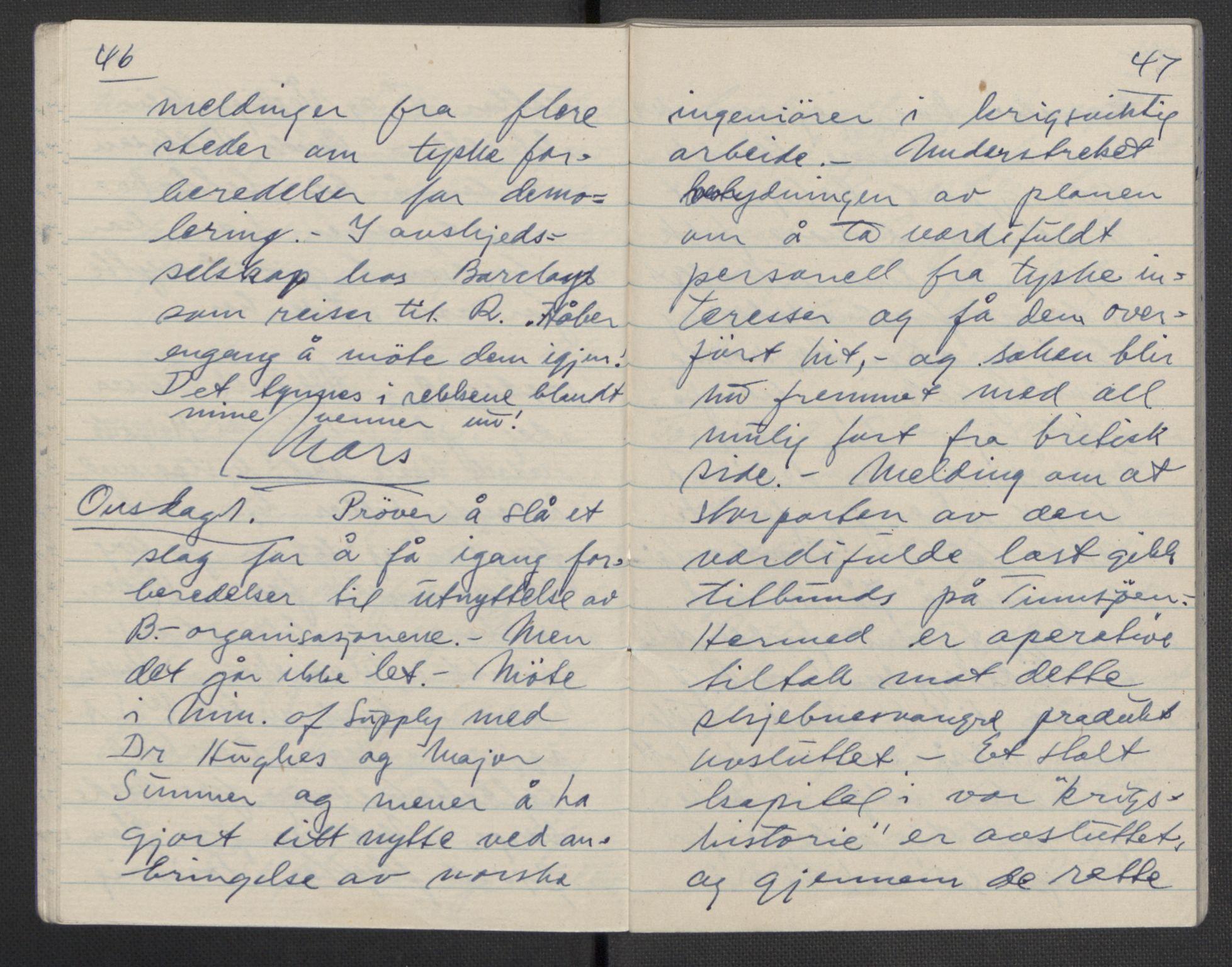 RA, Tronstad, Leif, F/L0001: Dagbøker, 1941-1945, s. 644