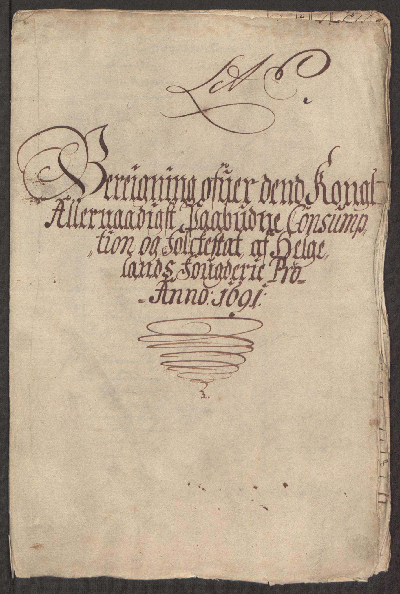RA, Rentekammeret inntil 1814, Reviderte regnskaper, Fogderegnskap, R65/L4504: Fogderegnskap Helgeland, 1691-1692, s. 109
