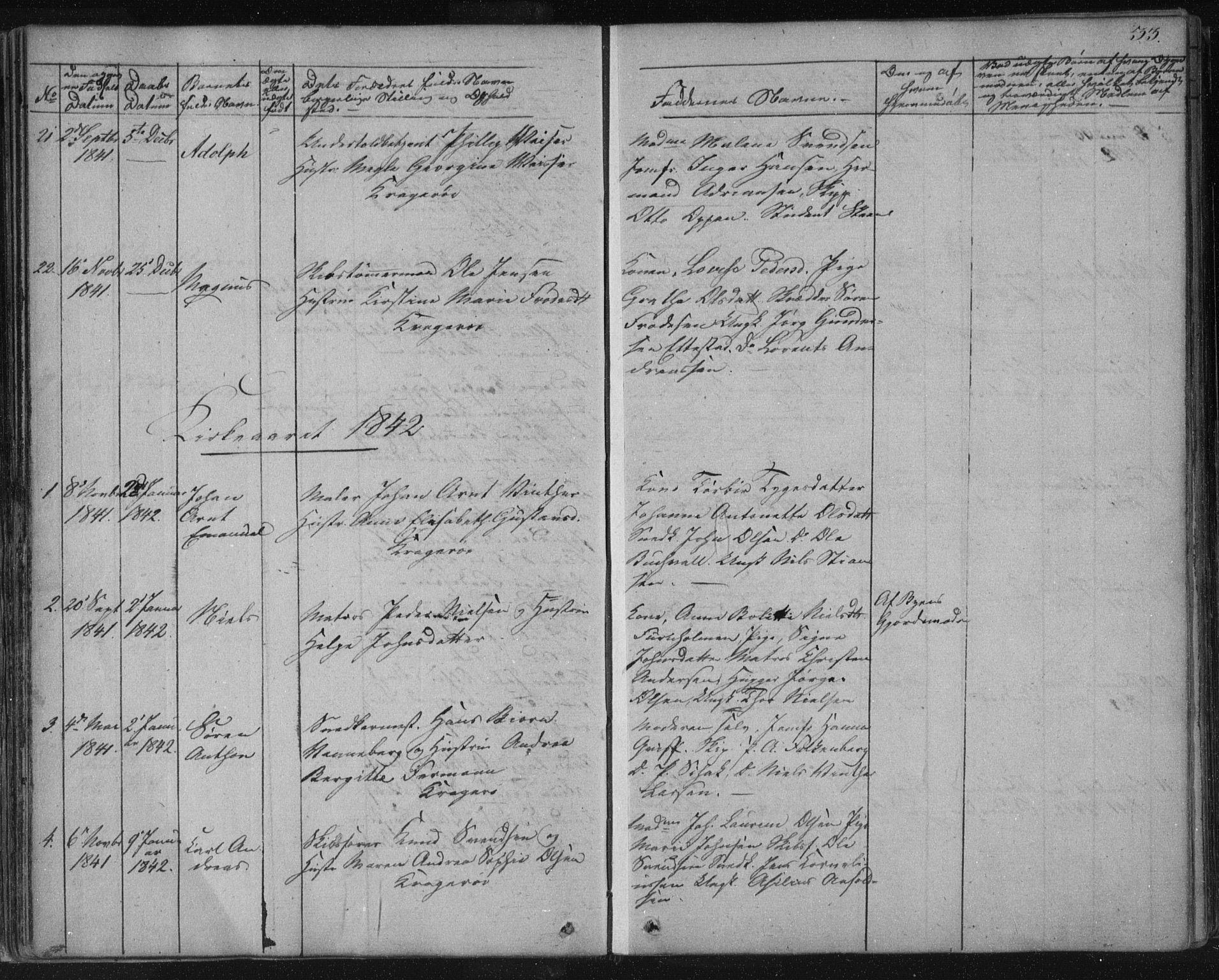 SAKO, Kragerø kirkebøker, F/Fa/L0005: Ministerialbok nr. 5, 1832-1847, s. 33