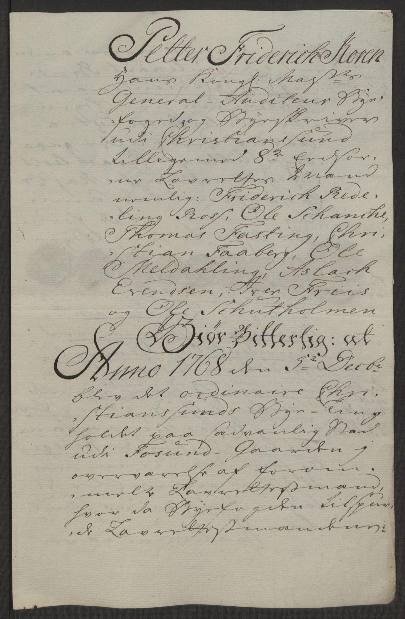 RA, Rentekammeret inntil 1814, Reviderte regnskaper, Byregnskaper, R/Rr/L0495: [R1] Kontribusjonsregnskap, 1762-1772, s. 194