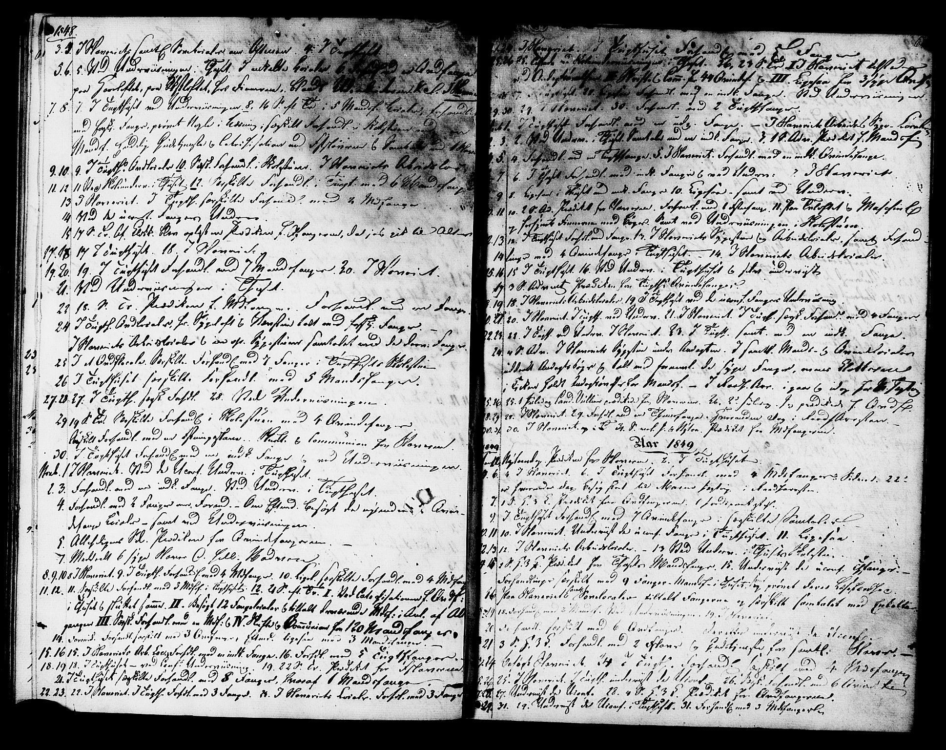 SAT, Ministerialprotokoller, klokkerbøker og fødselsregistre - Sør-Trøndelag, 624/L0480: Ministerialbok nr. 624A01, 1841-1864, s. 62