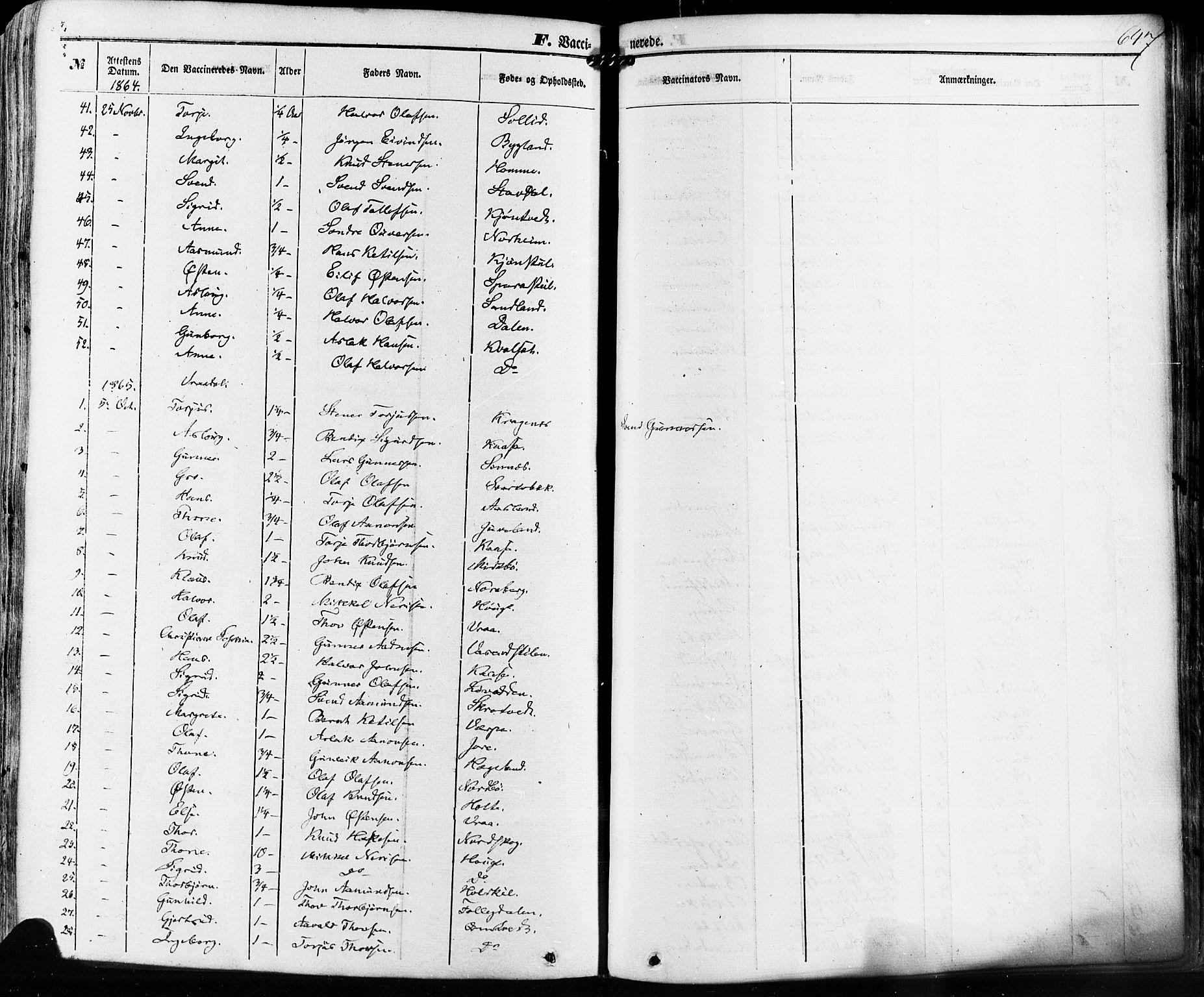 SAKO, Kviteseid kirkebøker, F/Fa/L0007: Ministerialbok nr. I 7, 1859-1881, s. 647