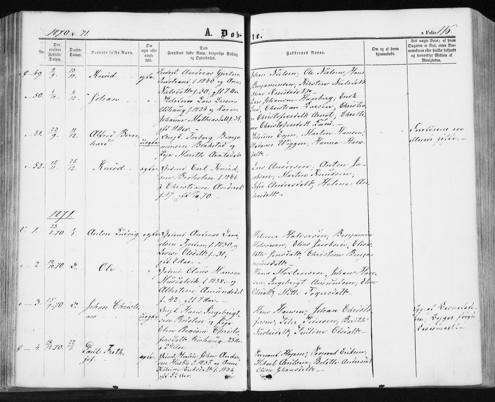 SAT, Ministerialprotokoller, klokkerbøker og fødselsregistre - Sør-Trøndelag, 659/L0737: Ministerialbok nr. 659A07, 1857-1875, s. 116