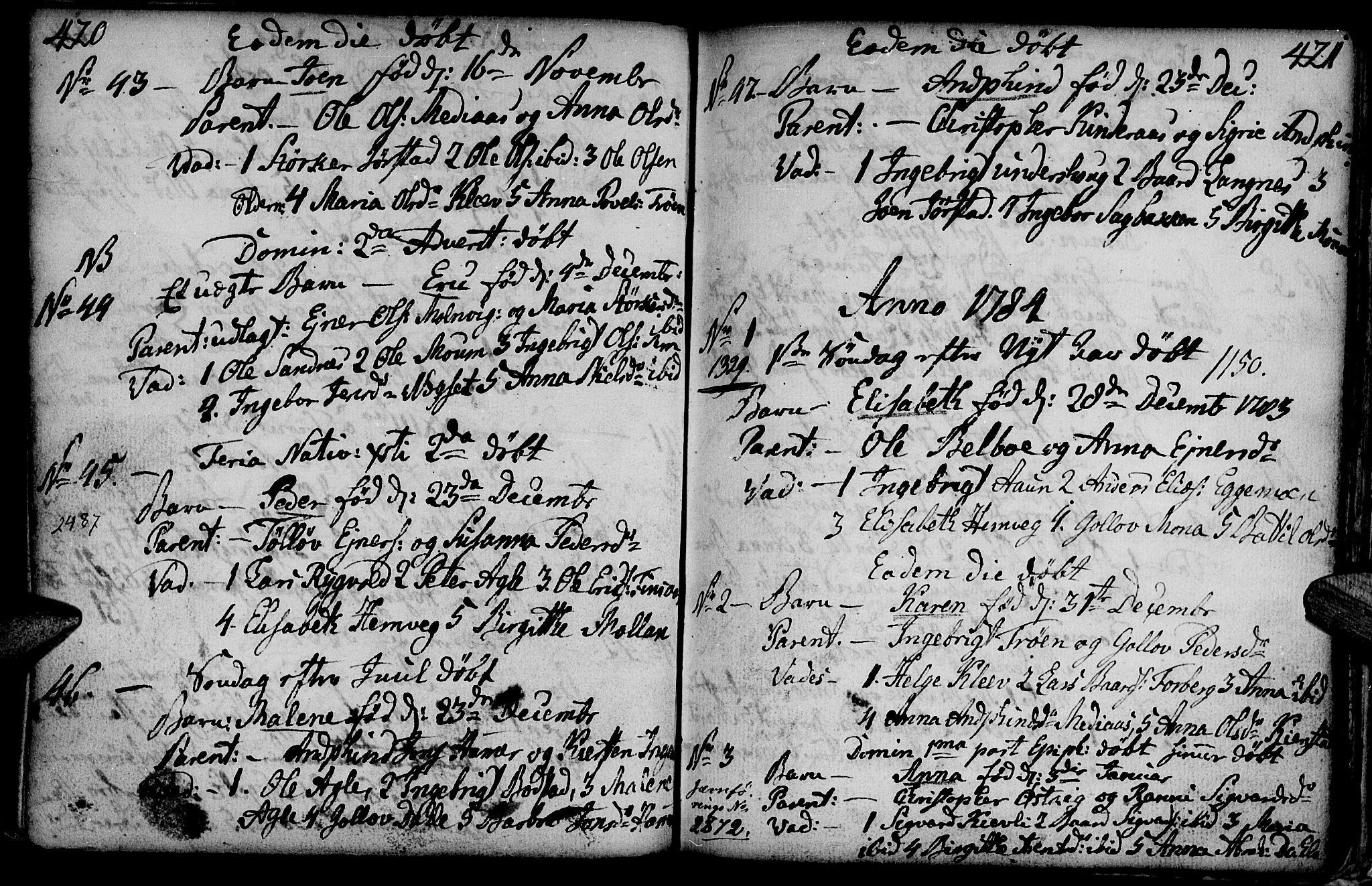 SAT, Ministerialprotokoller, klokkerbøker og fødselsregistre - Nord-Trøndelag, 749/L0467: Ministerialbok nr. 749A01, 1733-1787, s. 420-421