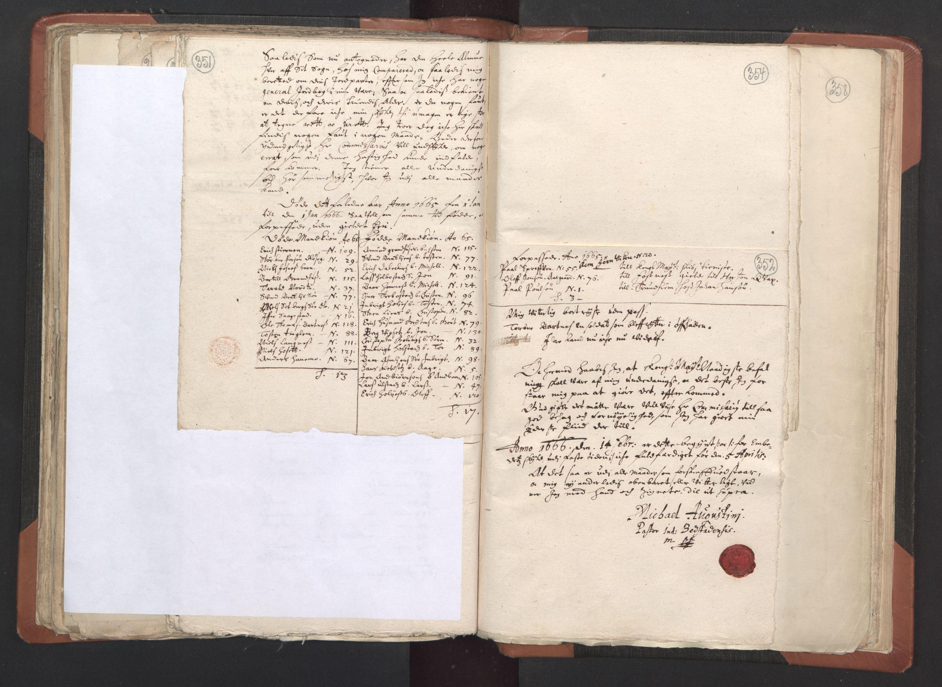 RA, Sogneprestenes manntall 1664-1666, nr. 33: Innherad prosti, 1664-1666, s. 351-352