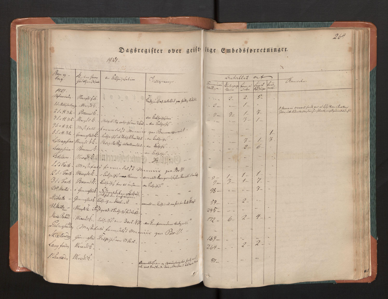 SAB, Gloppen sokneprestembete, H/Haa/Haaa/L0007: Ministerialbok nr. A 7, 1827-1837, s. 264