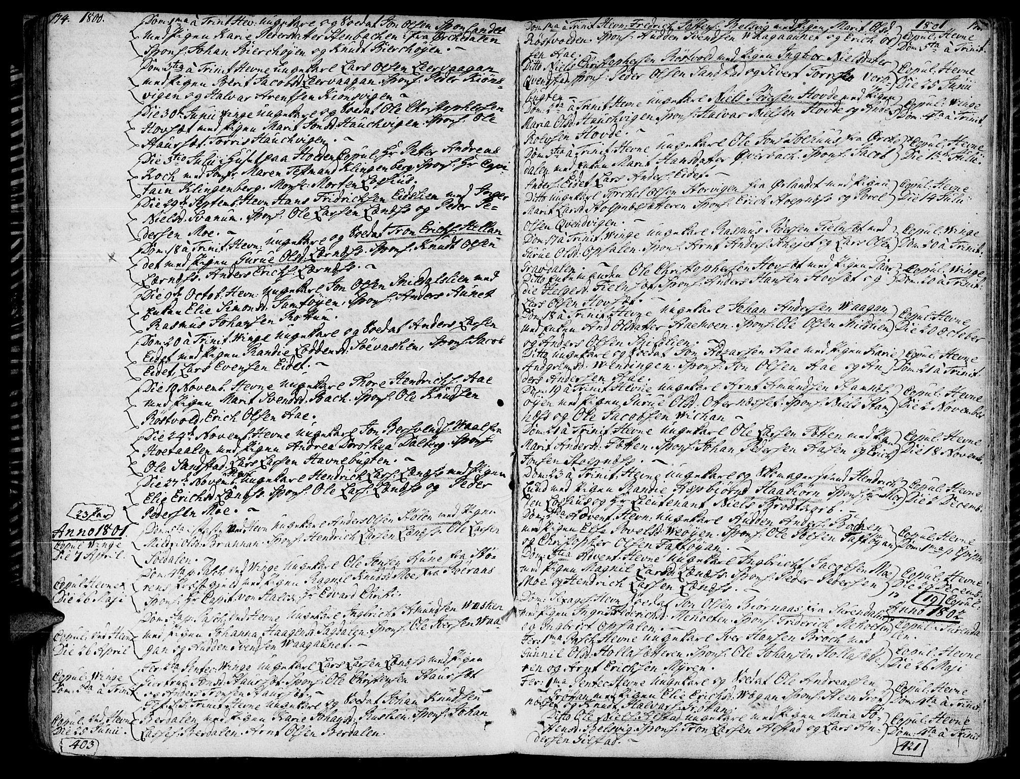 SAT, Ministerialprotokoller, klokkerbøker og fødselsregistre - Sør-Trøndelag, 630/L0490: Ministerialbok nr. 630A03, 1795-1818, s. 174-175
