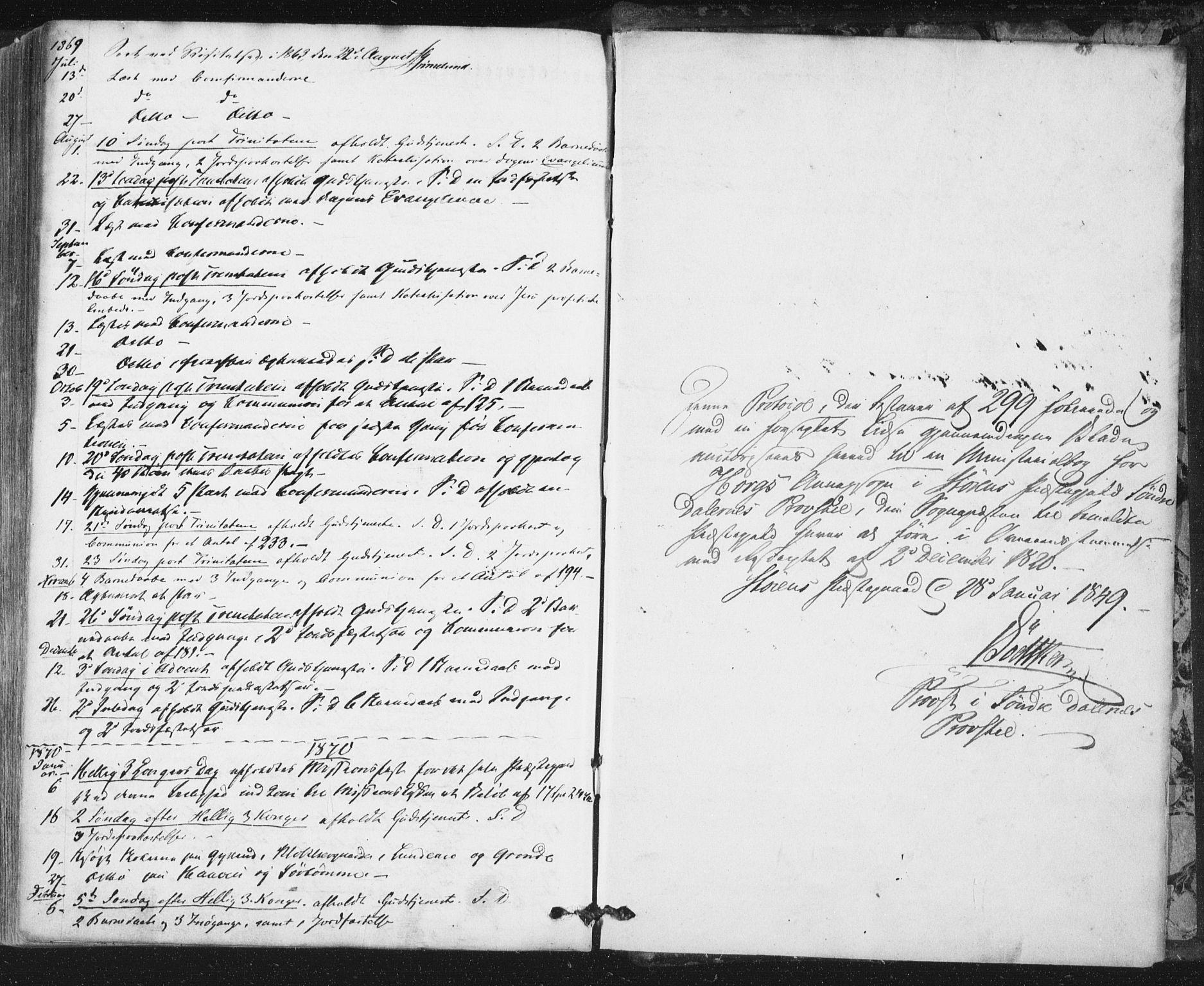 SAT, Ministerialprotokoller, klokkerbøker og fødselsregistre - Sør-Trøndelag, 692/L1103: Ministerialbok nr. 692A03, 1849-1870