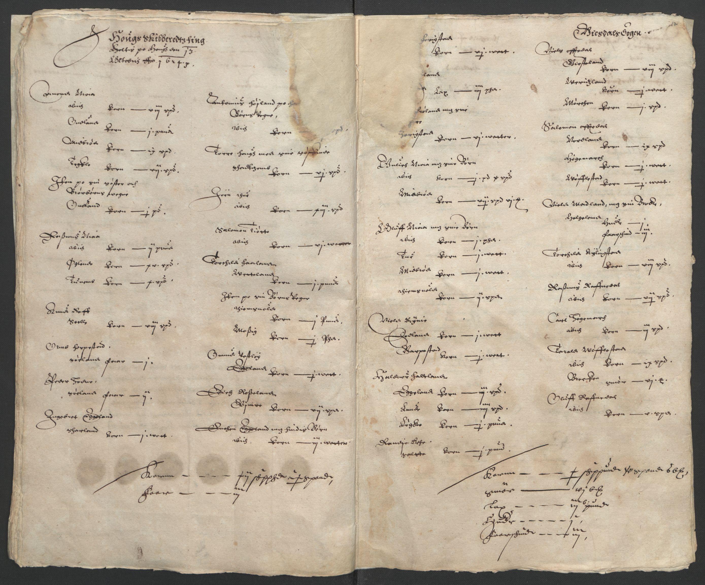 RA, Stattholderembetet 1572-1771, Ek/L0010: Jordebøker til utlikning av rosstjeneste 1624-1626:, 1624-1626, s. 51