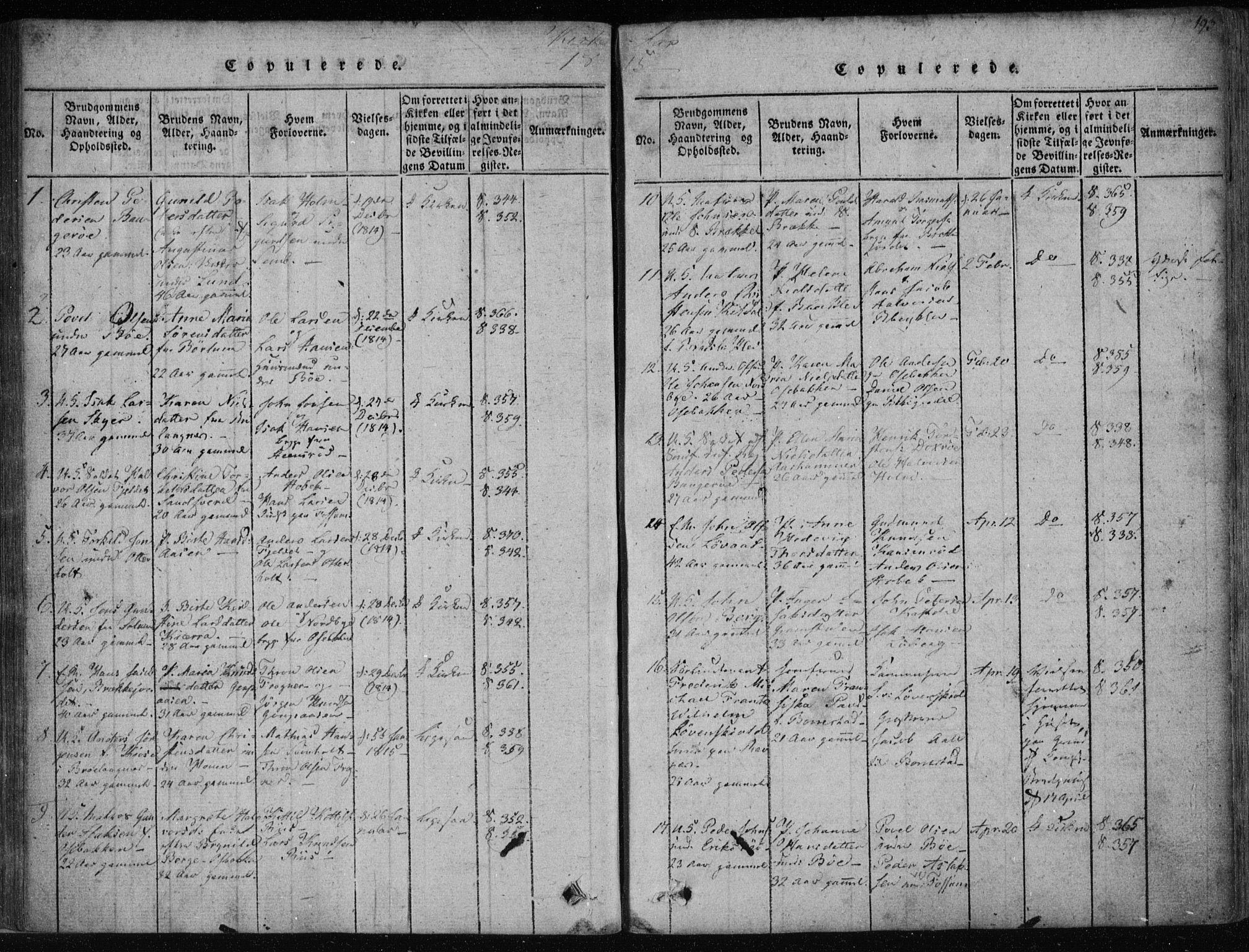 SAKO, Gjerpen kirkebøker, F/Fa/L0004: Ministerialbok nr. 4, 1814-1823, s. 193