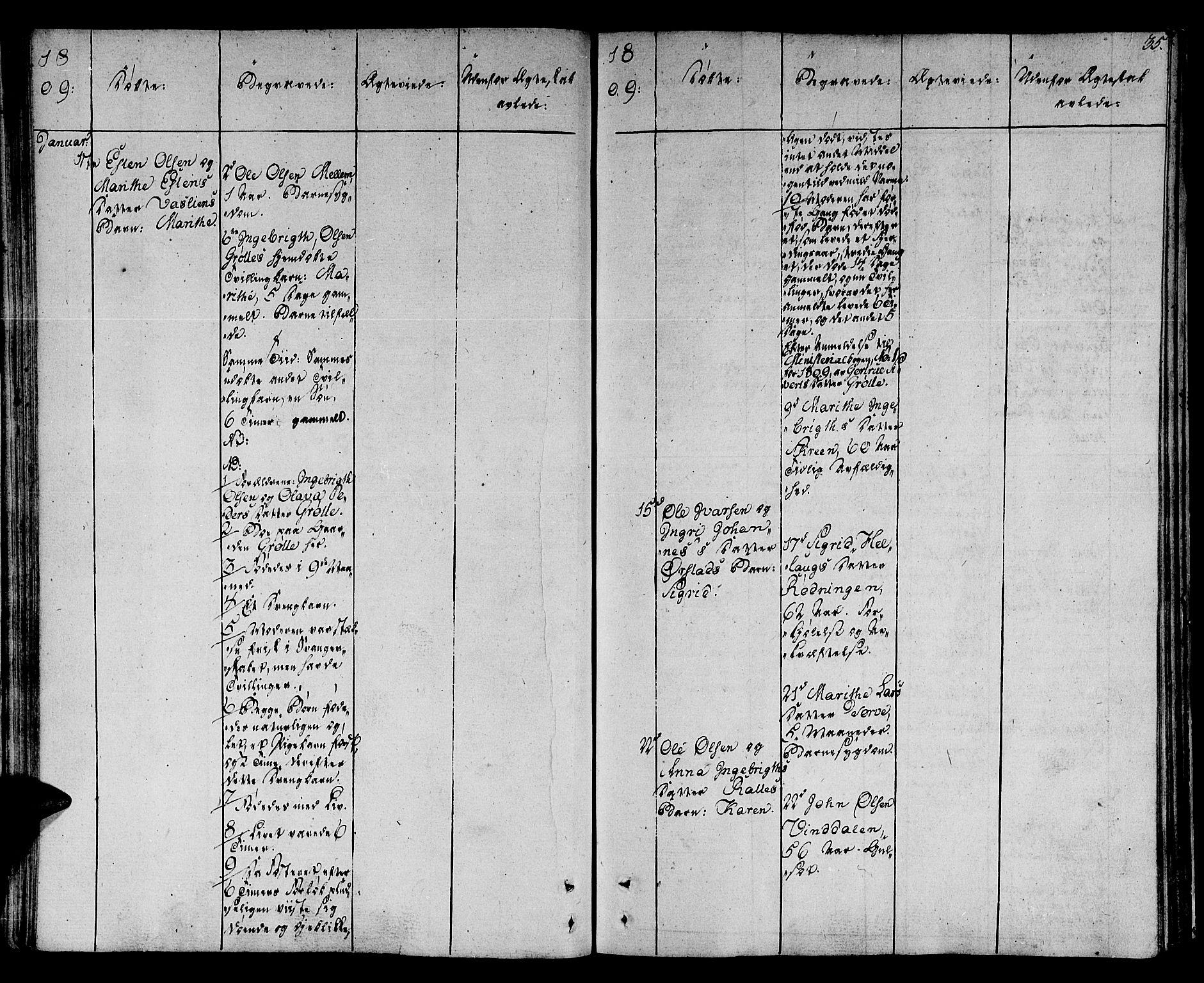 SAT, Ministerialprotokoller, klokkerbøker og fødselsregistre - Sør-Trøndelag, 678/L0894: Ministerialbok nr. 678A04, 1806-1815, s. 35