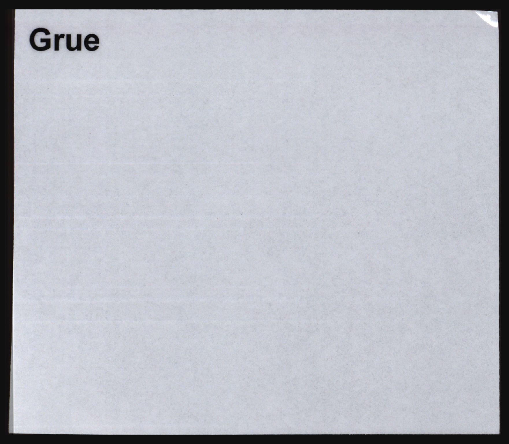 SAH, Norges Brannkasse, Grue, s. 1