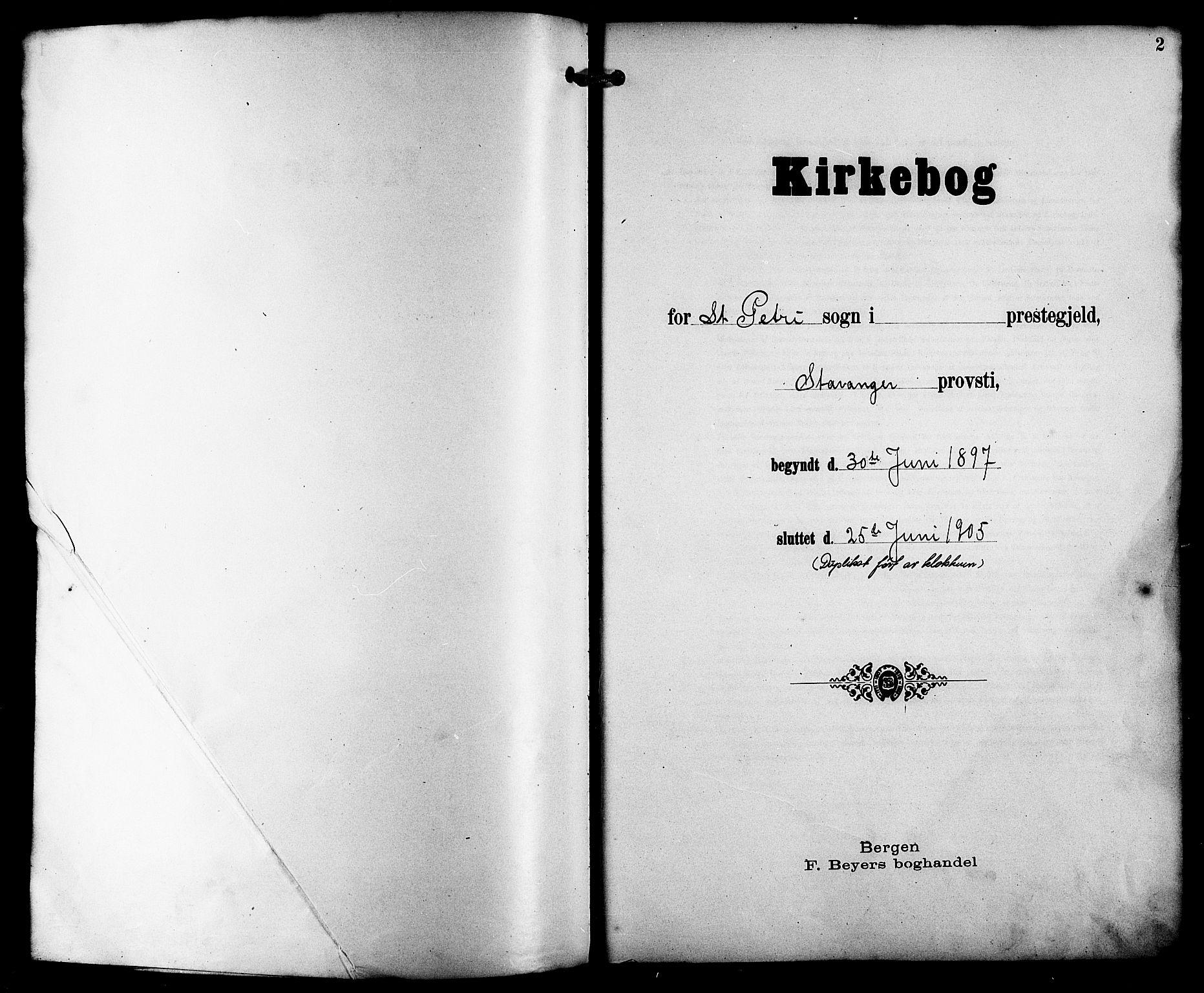 SAST, St. Petri sokneprestkontor, 30/30BB/L0008: Klokkerbok nr. B 8, 1897-1905, s. 2
