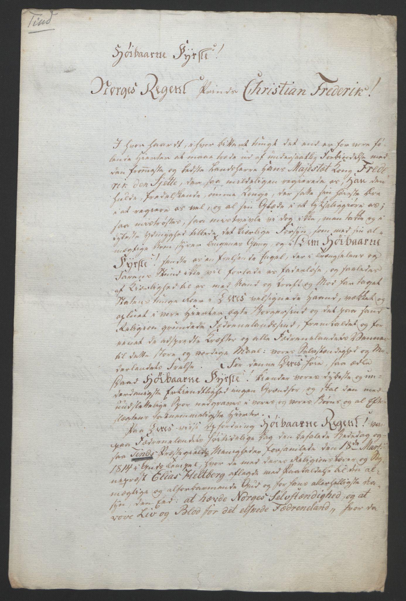RA, Statsrådssekretariatet, D/Db/L0008: Fullmakter for Eidsvollsrepresentantene i 1814. , 1814, s. 70