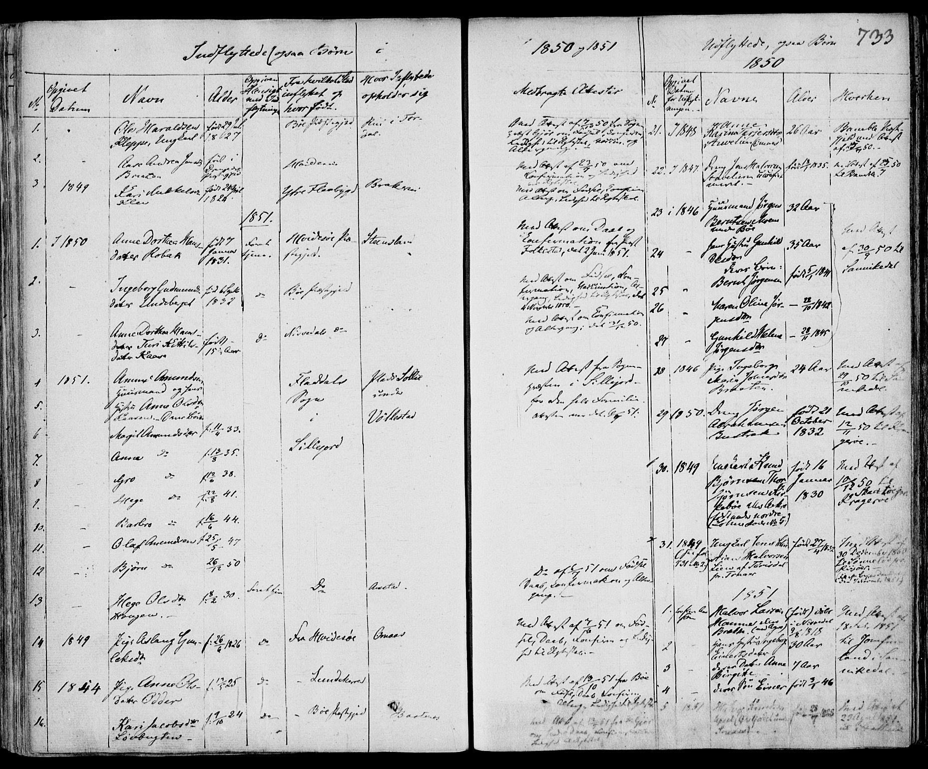 SAKO, Drangedal kirkebøker, F/Fa/L0007b: Ministerialbok nr. 7b, 1837-1856, s. 733