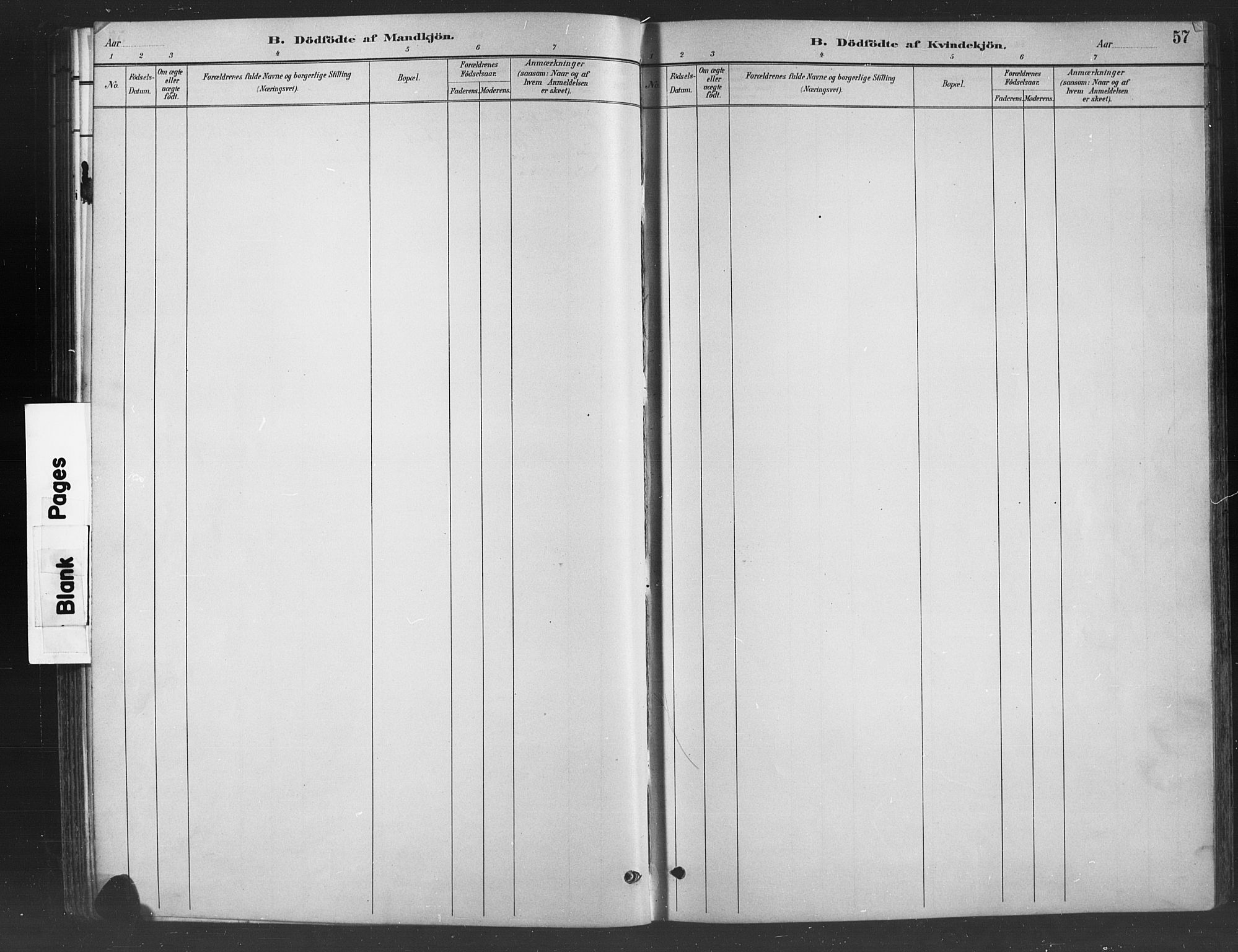 SAH, Nord-Aurdal prestekontor, Klokkerbok nr. 8, 1883-1916, s. 57