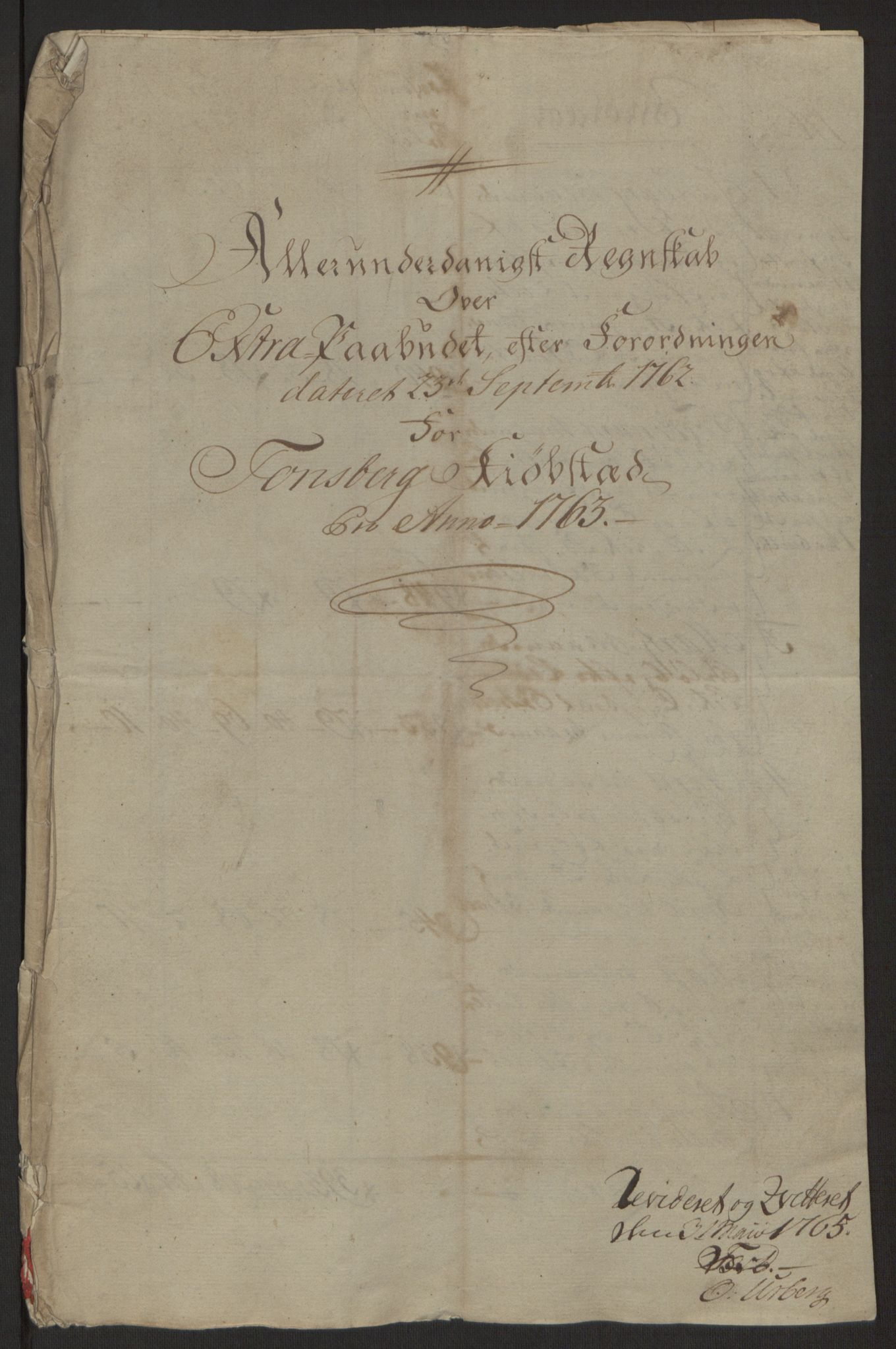 RA, Rentekammeret inntil 1814, Reviderte regnskaper, Byregnskaper, R/Rh/L0162: [H4] Kontribusjonsregnskap, 1762-1772, s. 47