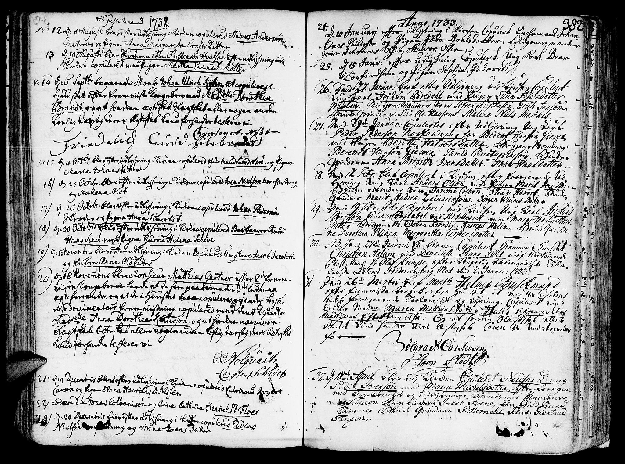 SAT, Ministerialprotokoller, klokkerbøker og fødselsregistre - Sør-Trøndelag, 602/L0103: Ministerialbok nr. 602A01, 1732-1774, s. 382