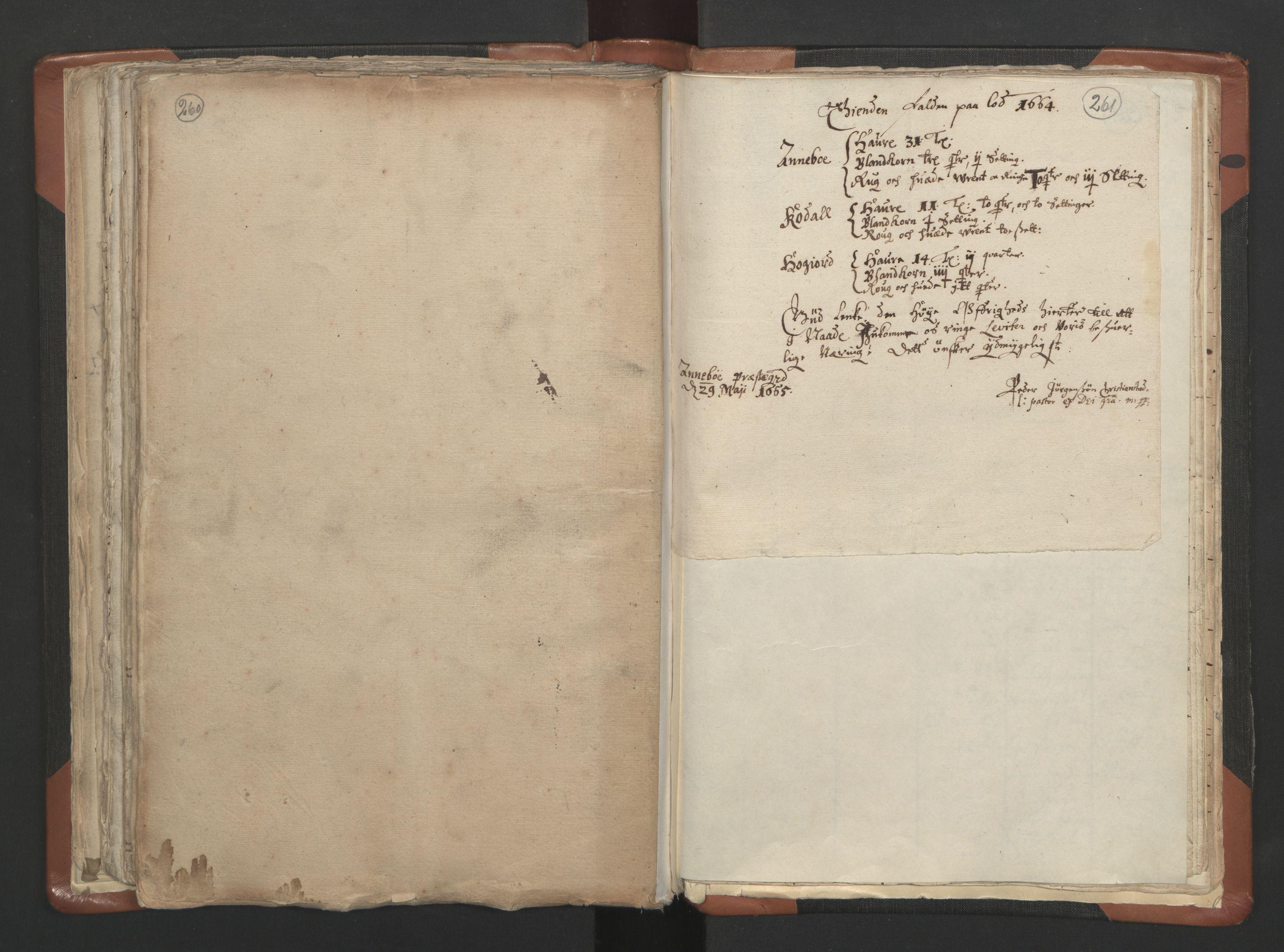 RA, Sogneprestenes manntall 1664-1666, nr. 10: Tønsberg prosti, 1664-1666, s. 260-261