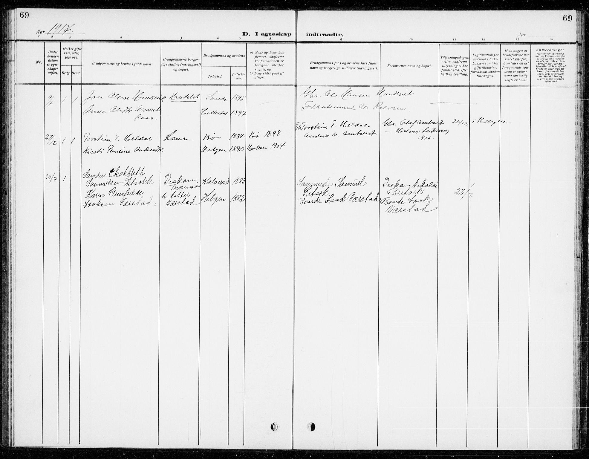 SAKO, Holla kirkebøker, G/Gb/L0003: Klokkerbok nr. II 3, 1914-1941, s. 69