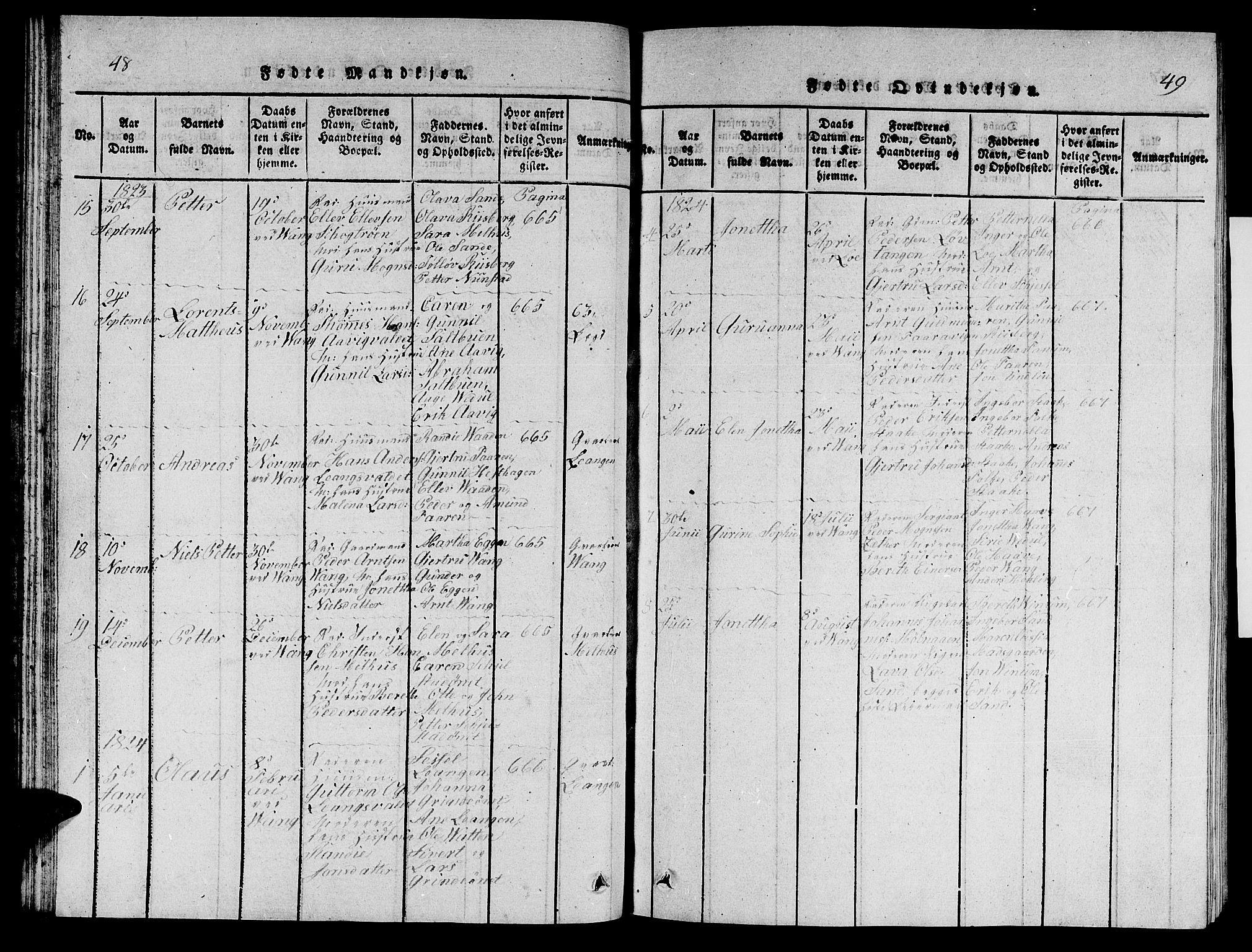 SAT, Ministerialprotokoller, klokkerbøker og fødselsregistre - Nord-Trøndelag, 714/L0132: Klokkerbok nr. 714C01, 1817-1824, s. 48-49