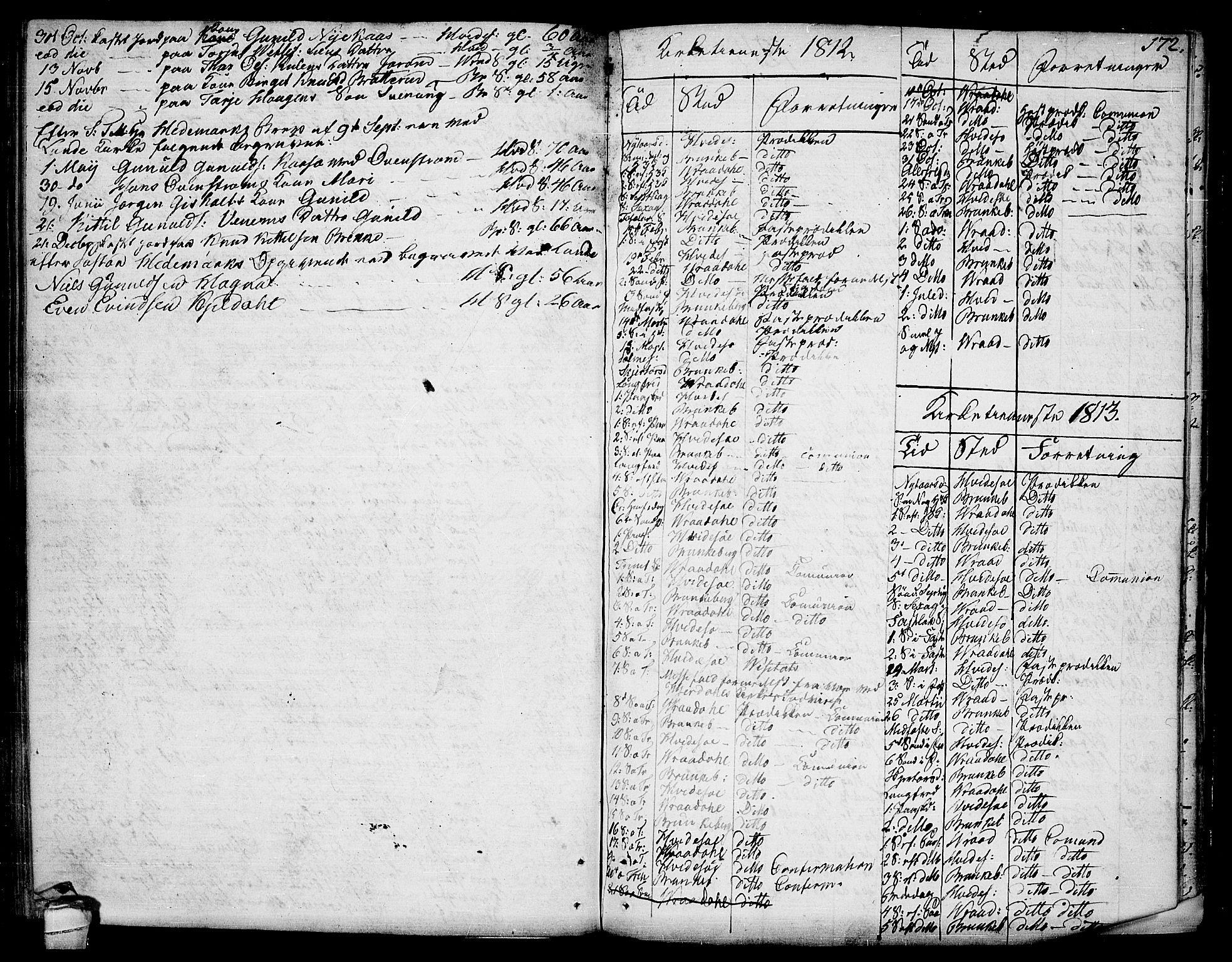 SAKO, Kviteseid kirkebøker, F/Fa/L0004: Ministerialbok nr. I 4, 1800-1814, s. 172