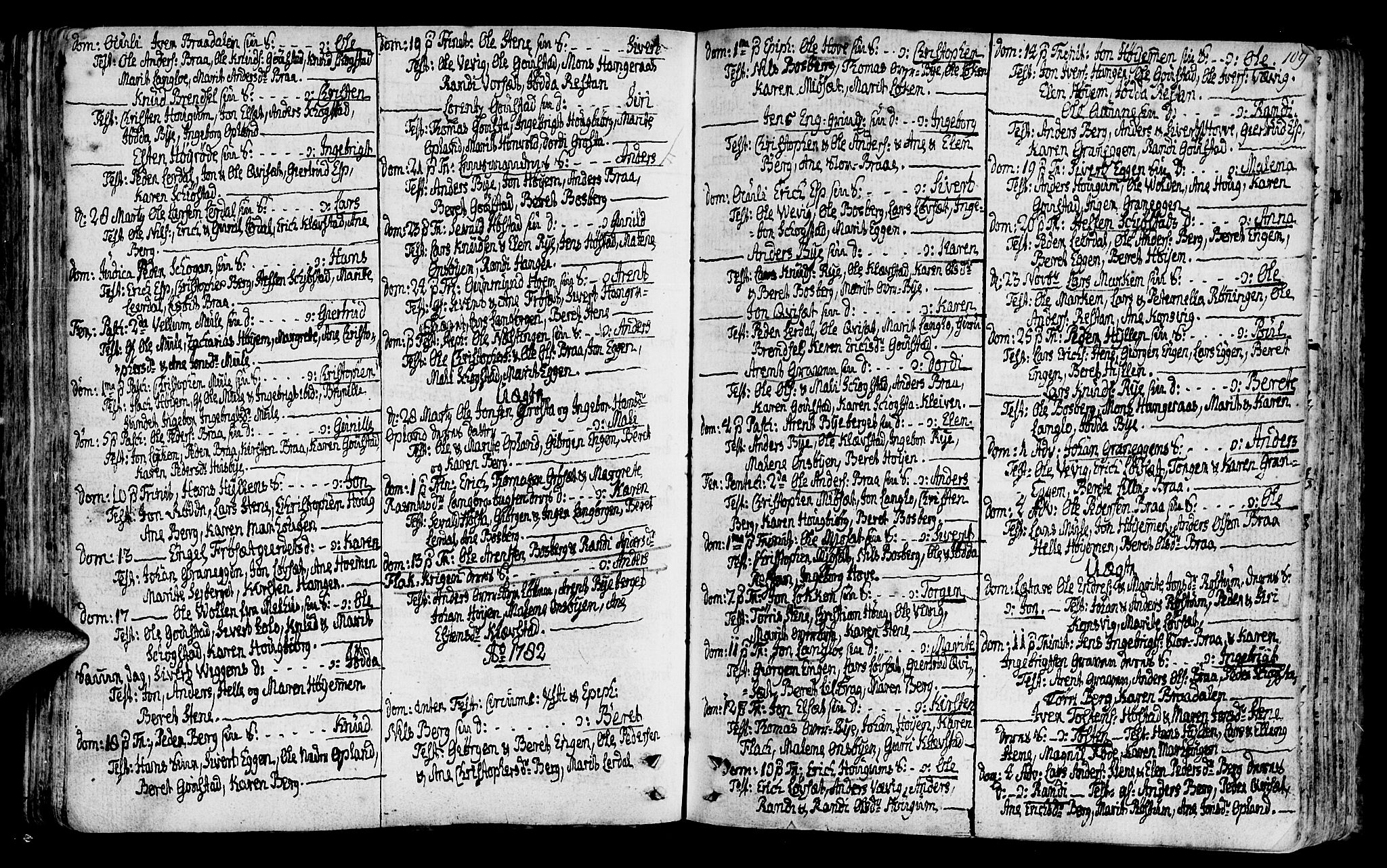 SAT, Ministerialprotokoller, klokkerbøker og fødselsregistre - Sør-Trøndelag, 612/L0370: Ministerialbok nr. 612A04, 1754-1802, s. 109