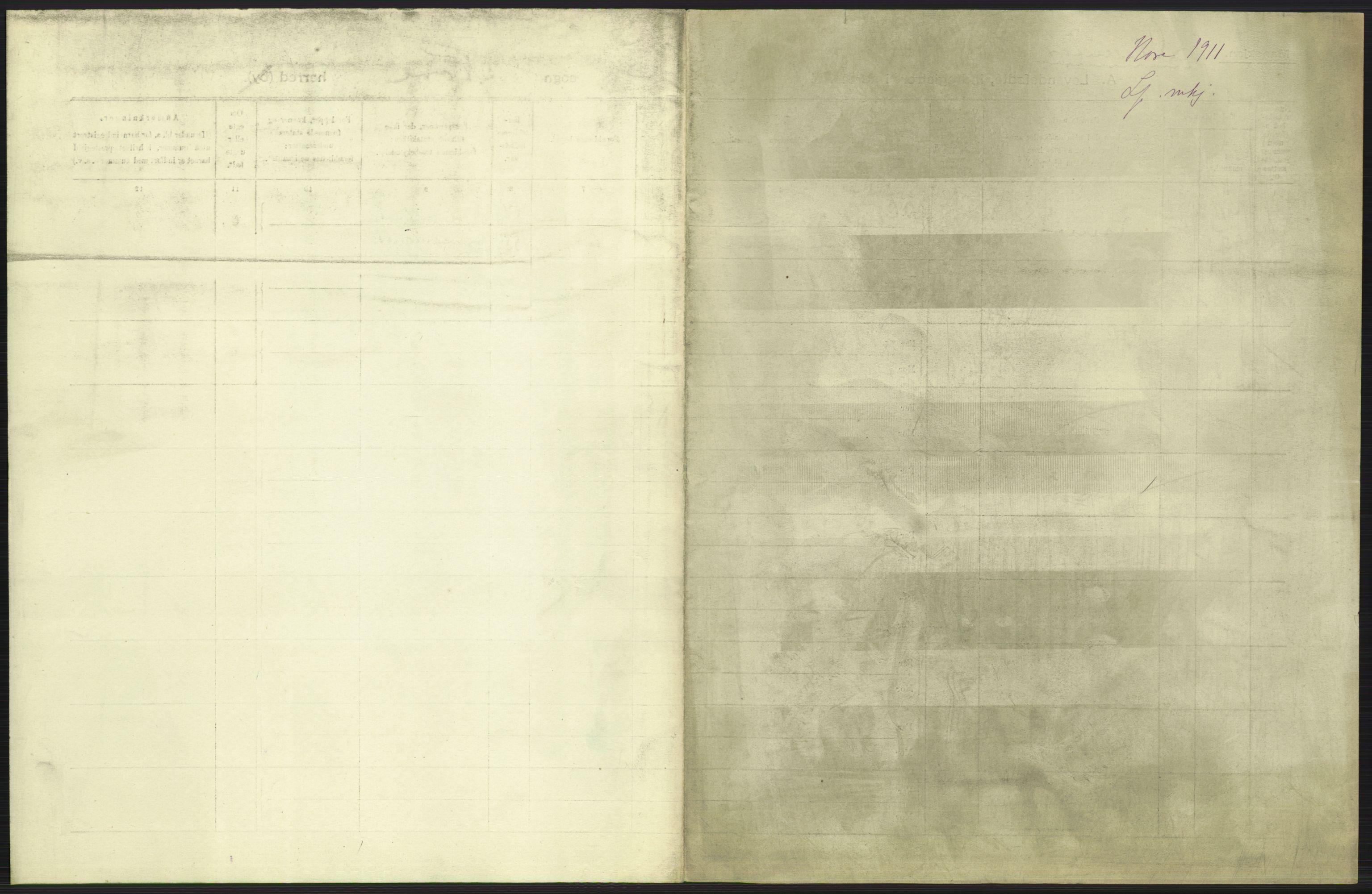 RA, Statistisk sentralbyrå, Sosiodemografiske emner, Befolkning, D/Df/Dfb/Dfba/L0015: Buskeruds amt:  Levendefødte menn og kvinner. Bygder., 1911