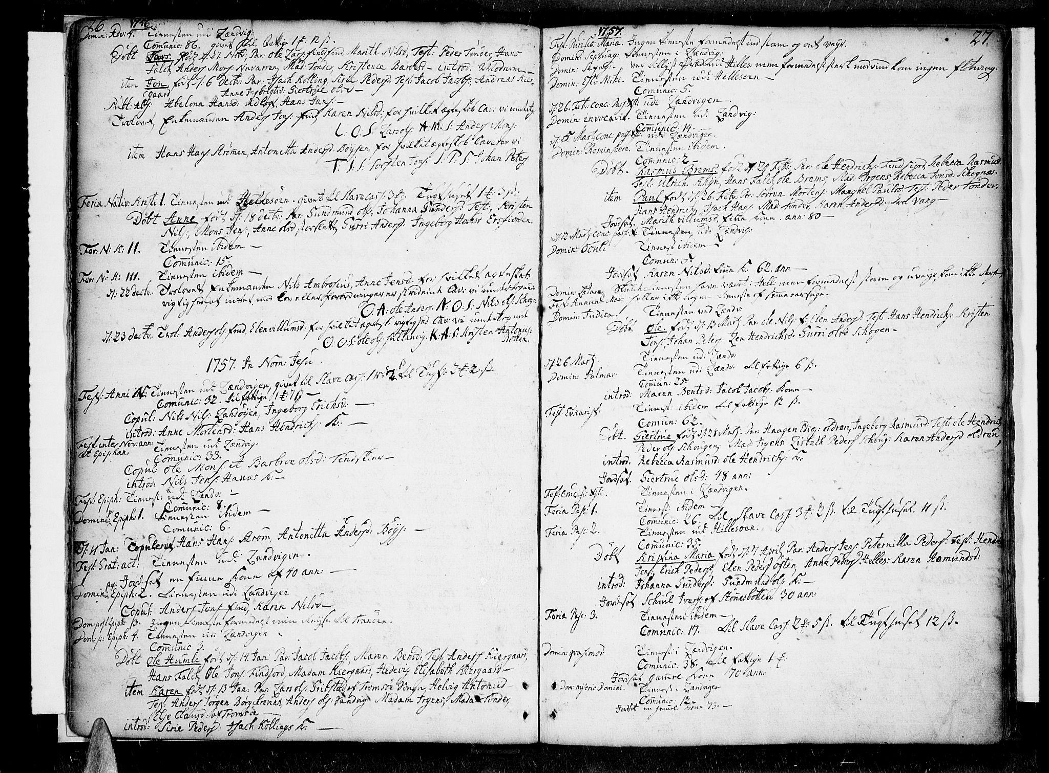 SATØ, Lenvik sokneprestembete, H/Ha: Ministerialbok nr. 1, 1753-1783, s. 26-27