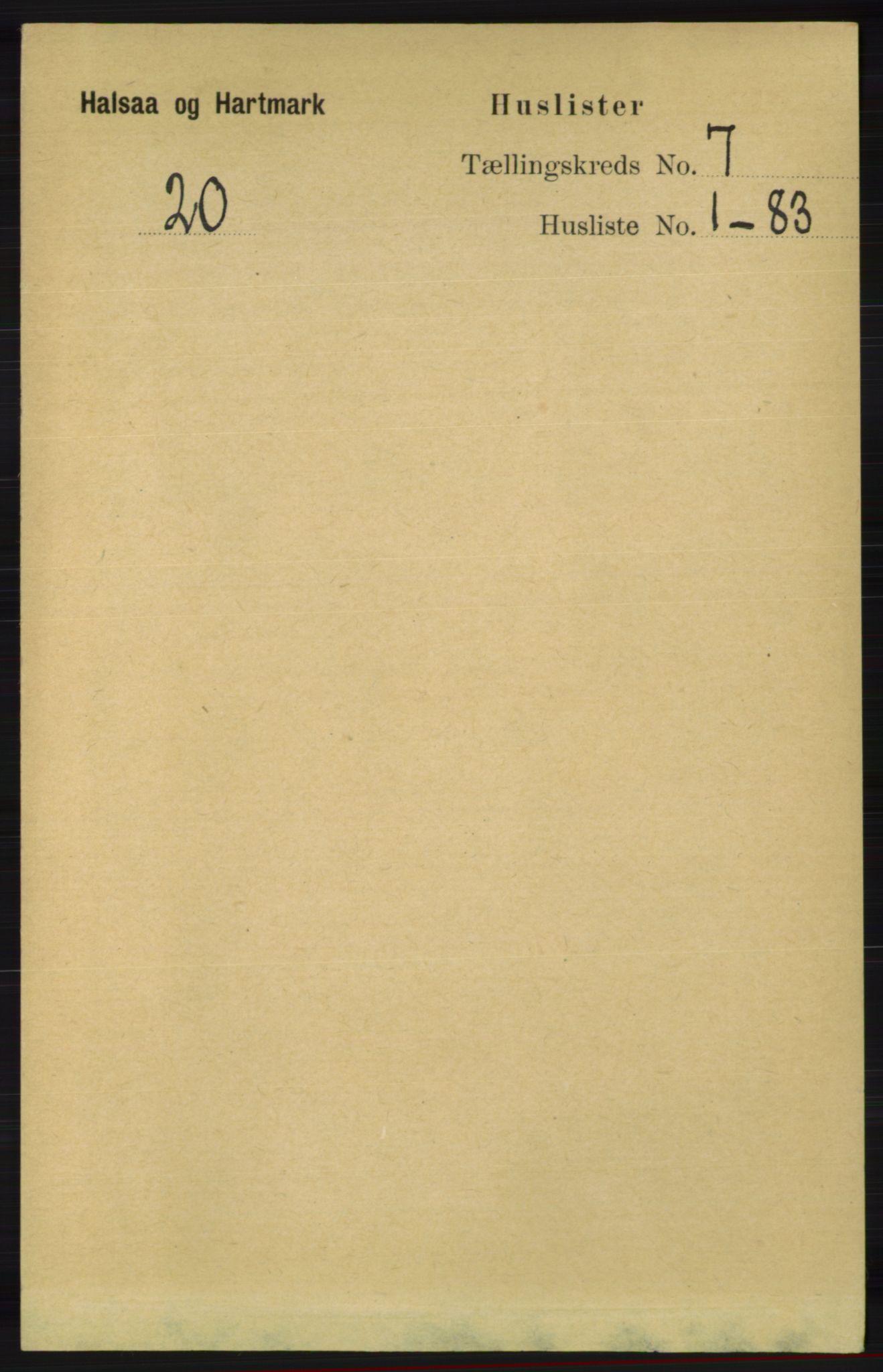 RA, Folketelling 1891 for 1019 Halse og Harkmark herred, 1891, s. 2654