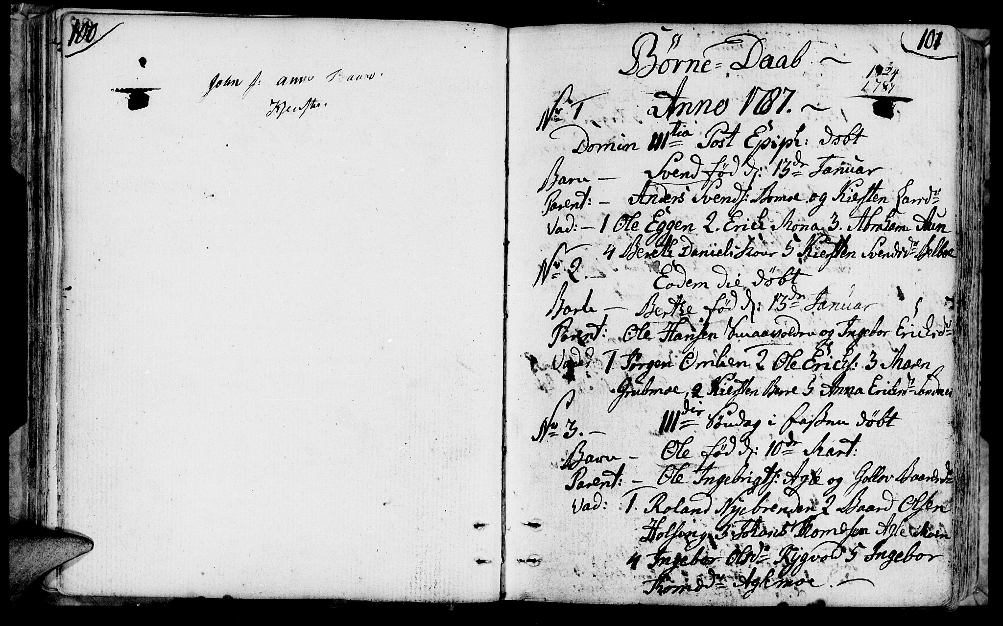 SAT, Ministerialprotokoller, klokkerbøker og fødselsregistre - Nord-Trøndelag, 749/L0468: Ministerialbok nr. 749A02, 1787-1817, s. 100-101