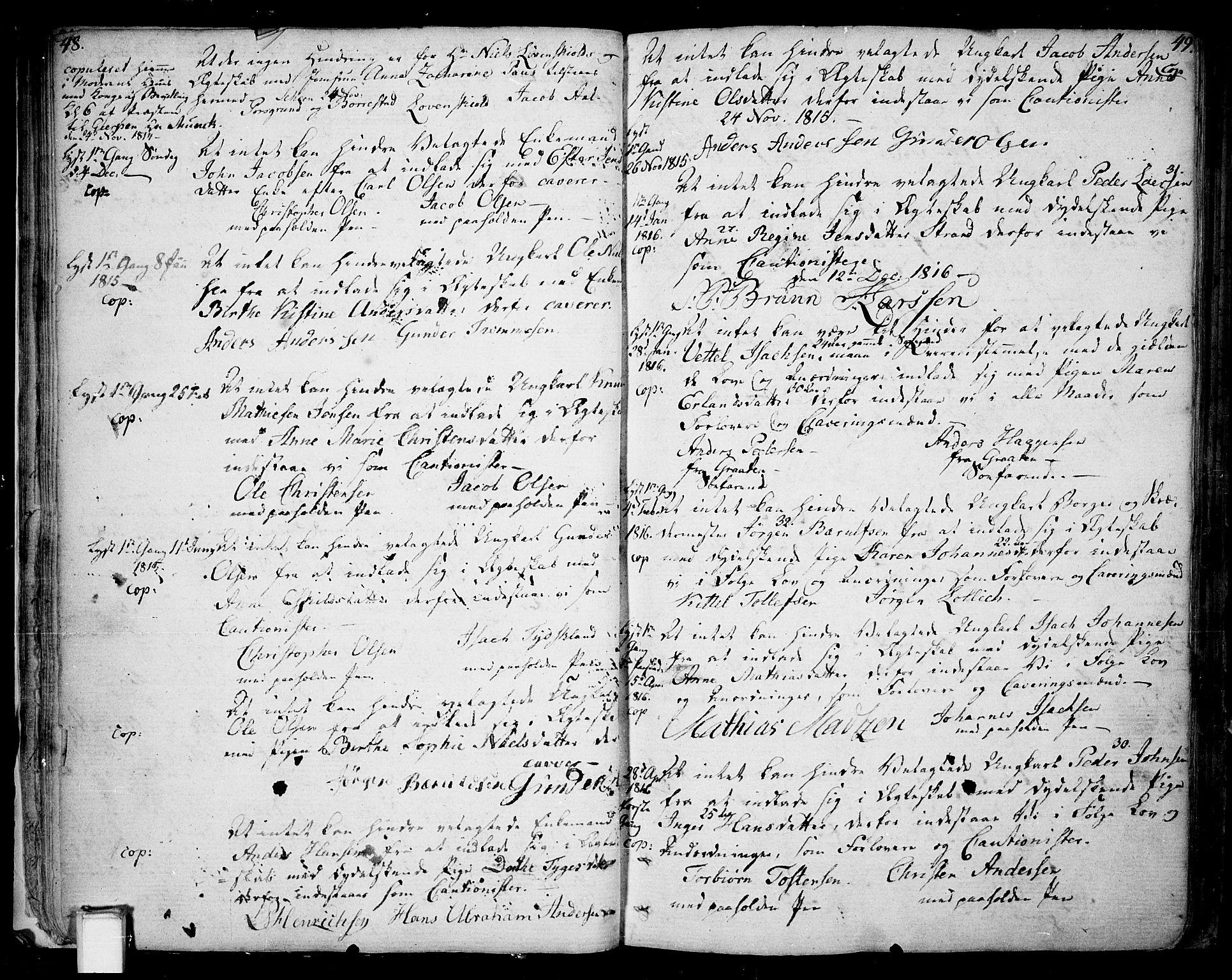 SAKO, Skien kirkebøker, F/Fa/L0004: Ministerialbok nr. 4, 1792-1814, s. 48-49