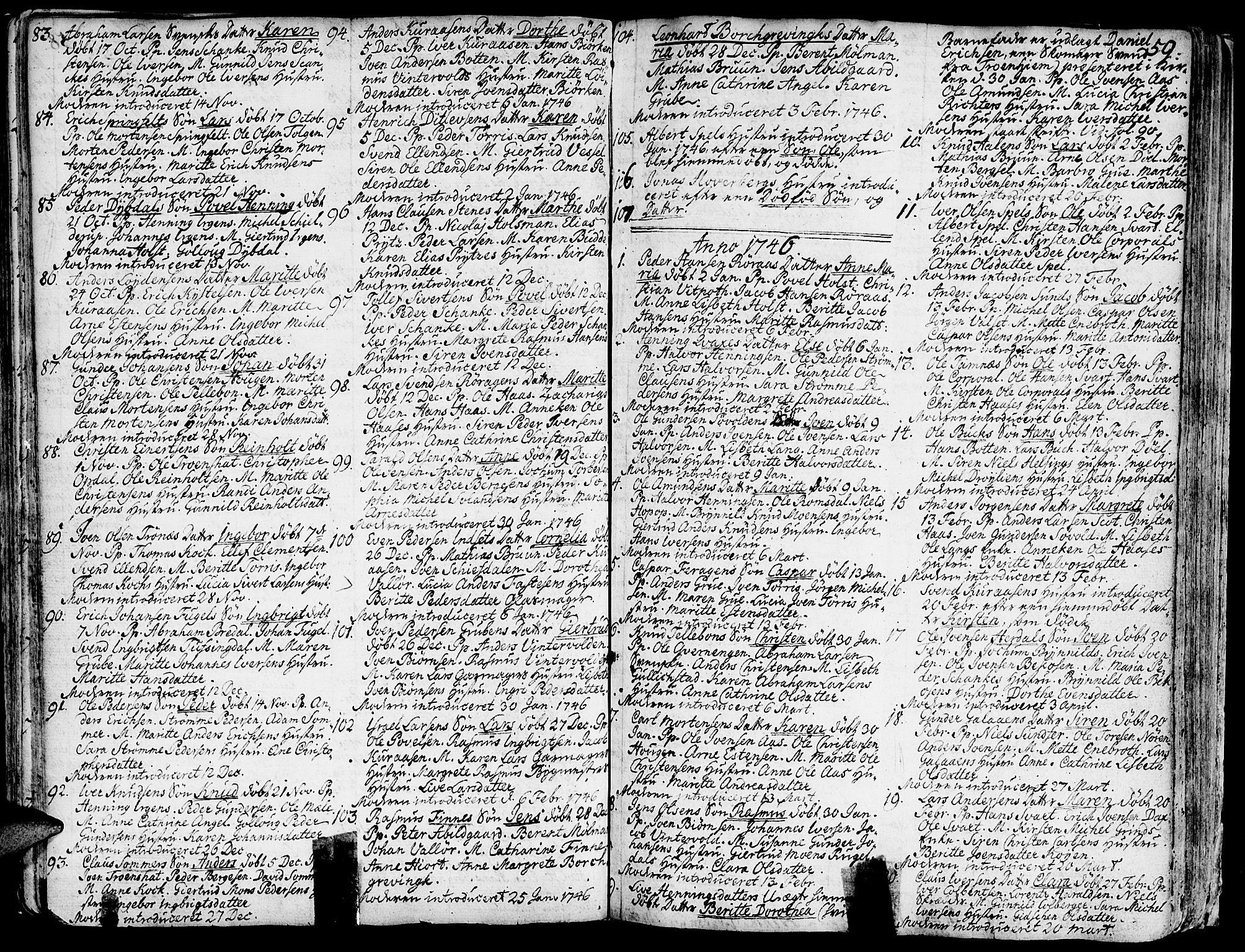 SAT, Ministerialprotokoller, klokkerbøker og fødselsregistre - Sør-Trøndelag, 681/L0925: Ministerialbok nr. 681A03, 1727-1766, s. 59