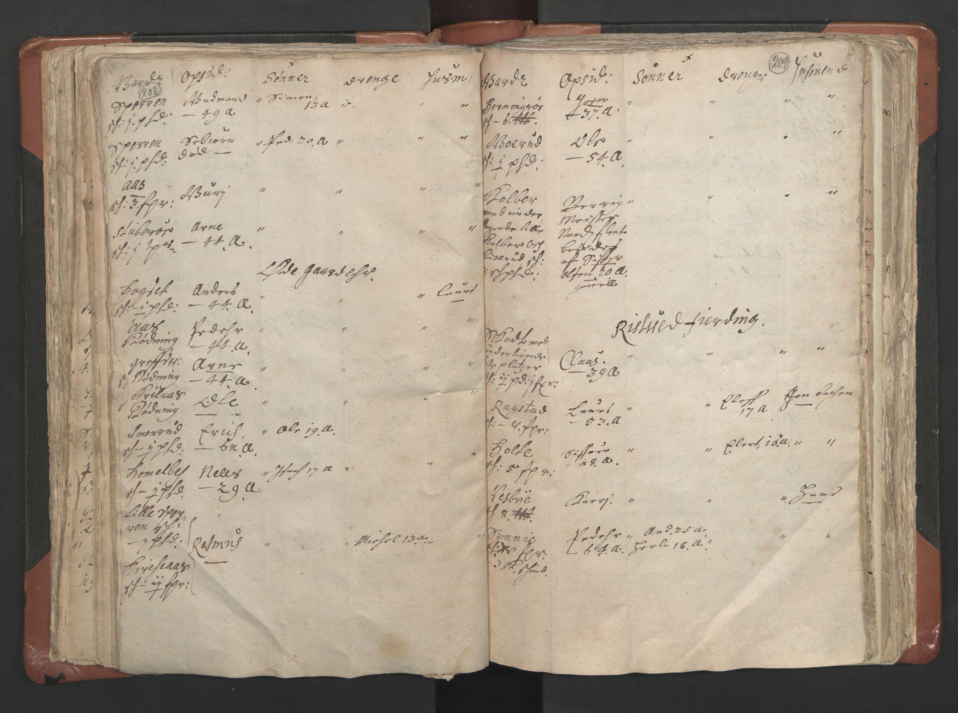 RA, Sogneprestenes manntall 1664-1666, nr. 9: Bragernes prosti, 1664-1666, s. 208-209