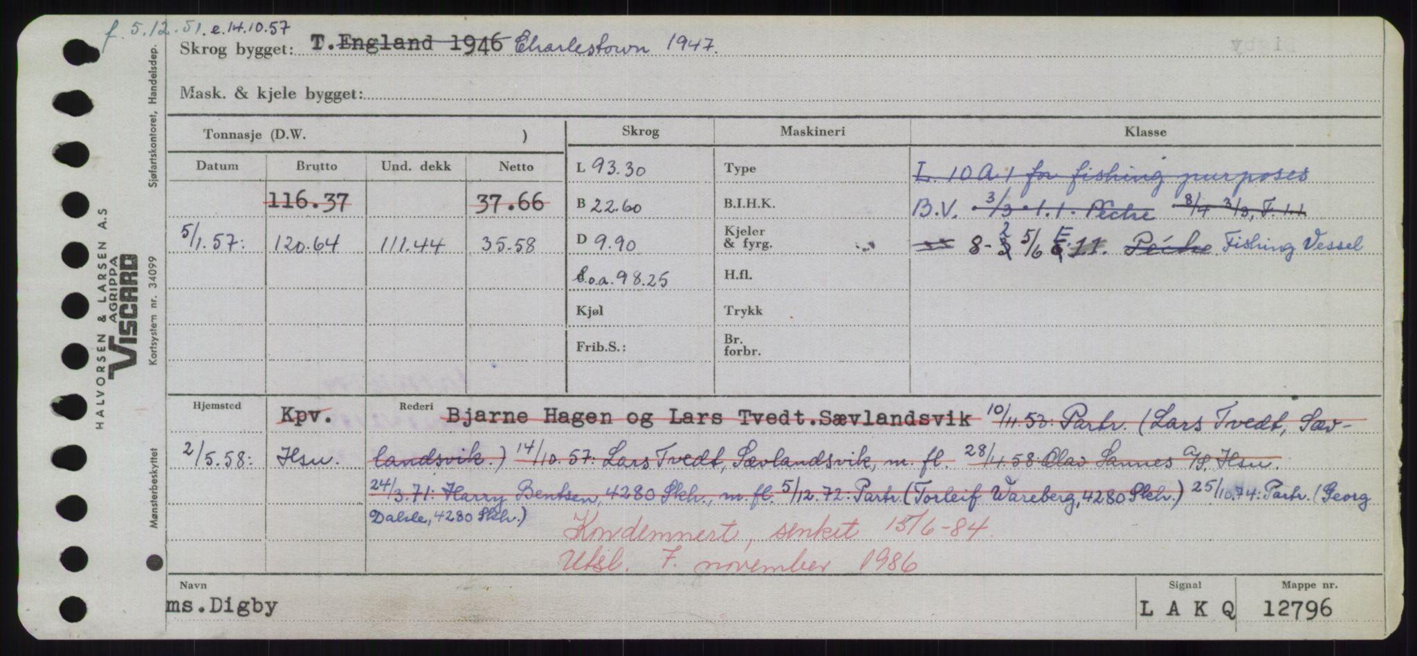 RA, Sjøfartsdirektoratet med forløpere, Skipsmålingen, H/Hd/L0008: Fartøy, C-D, s. 483