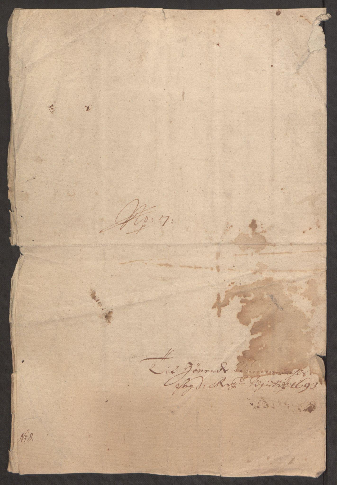 RA, Rentekammeret inntil 1814, Reviderte regnskaper, Fogderegnskap, R64/L4424: Fogderegnskap Namdal, 1692-1695, s. 330
