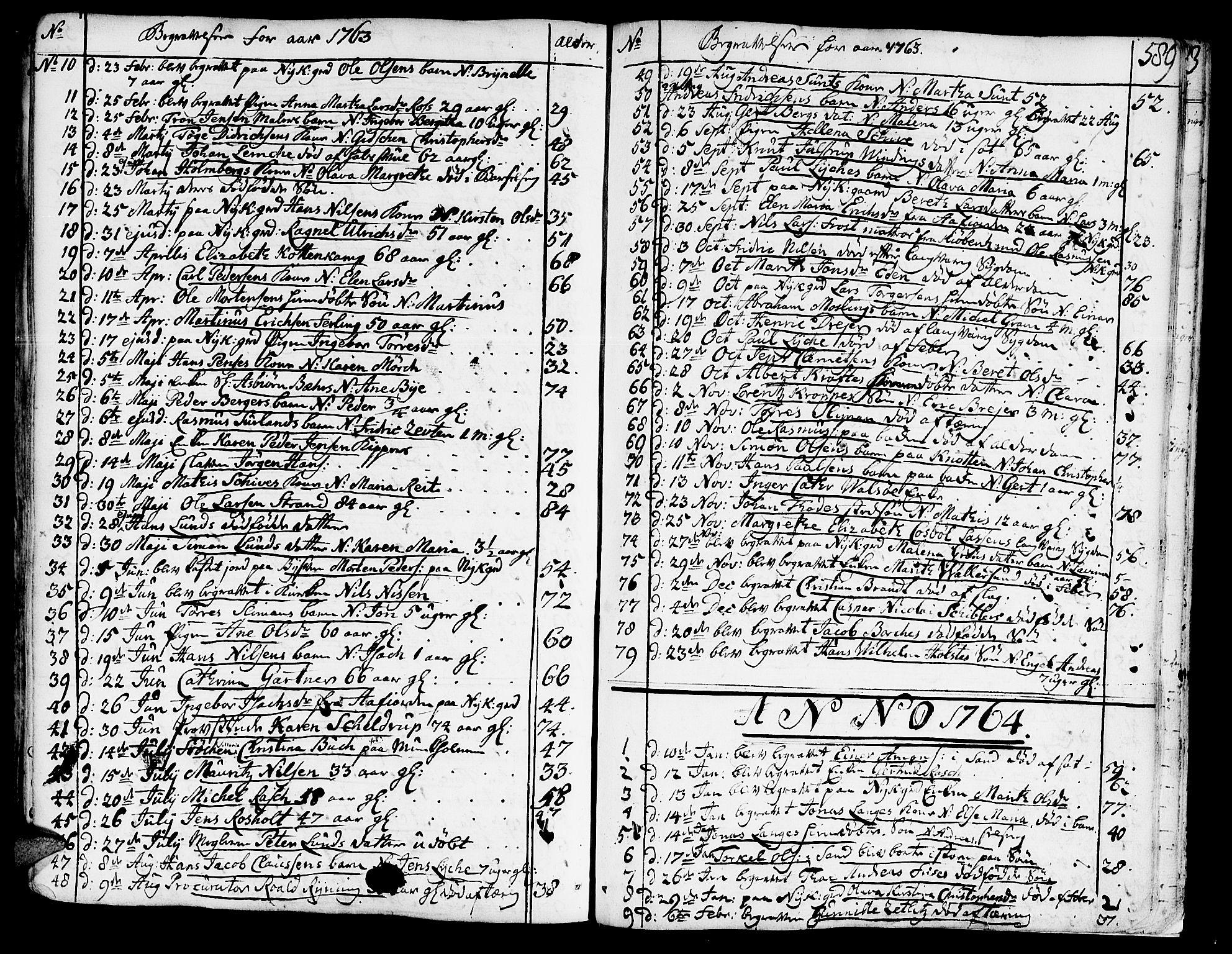 SAT, Ministerialprotokoller, klokkerbøker og fødselsregistre - Sør-Trøndelag, 602/L0103: Ministerialbok nr. 602A01, 1732-1774, s. 589