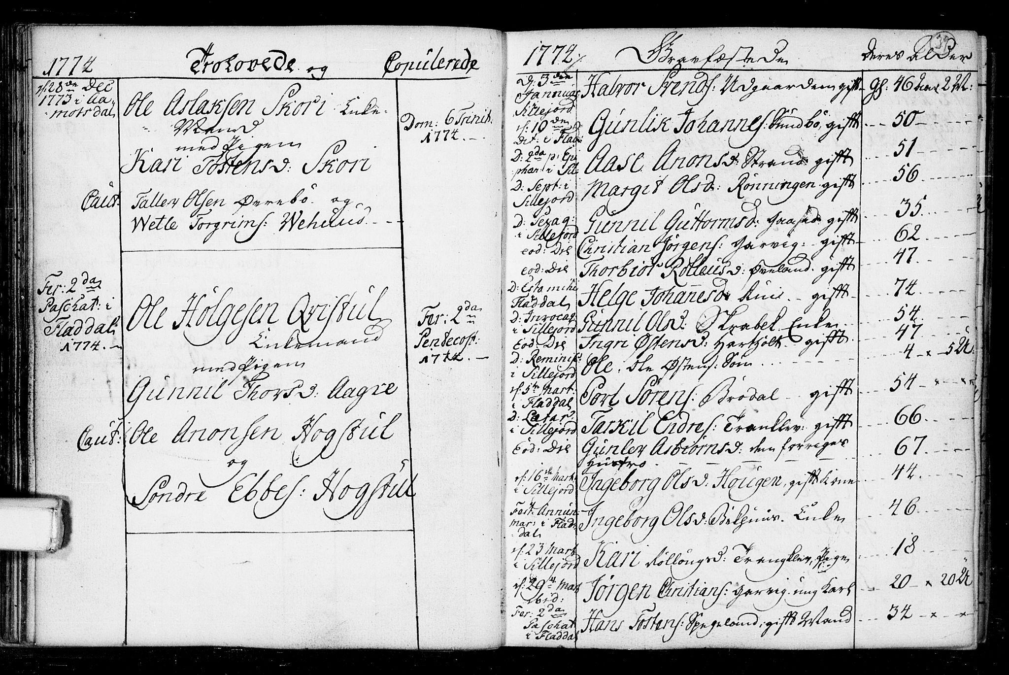 SAKO, Seljord kirkebøker, F/Fa/L0008: Ministerialbok nr. I 8, 1755-1814, s. 39