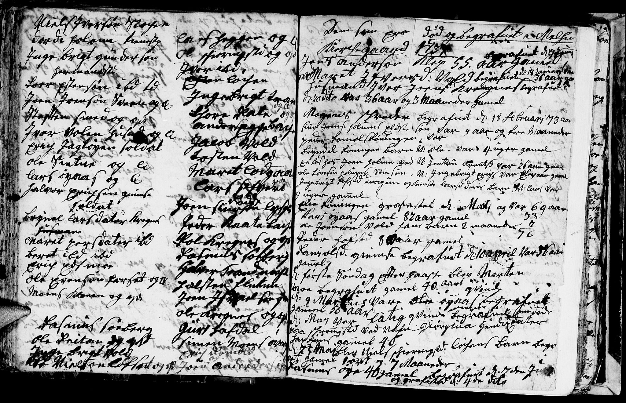 SAT, Ministerialprotokoller, klokkerbøker og fødselsregistre - Sør-Trøndelag, 691/L1090: Klokkerbok nr. 691C01, 1732-1742