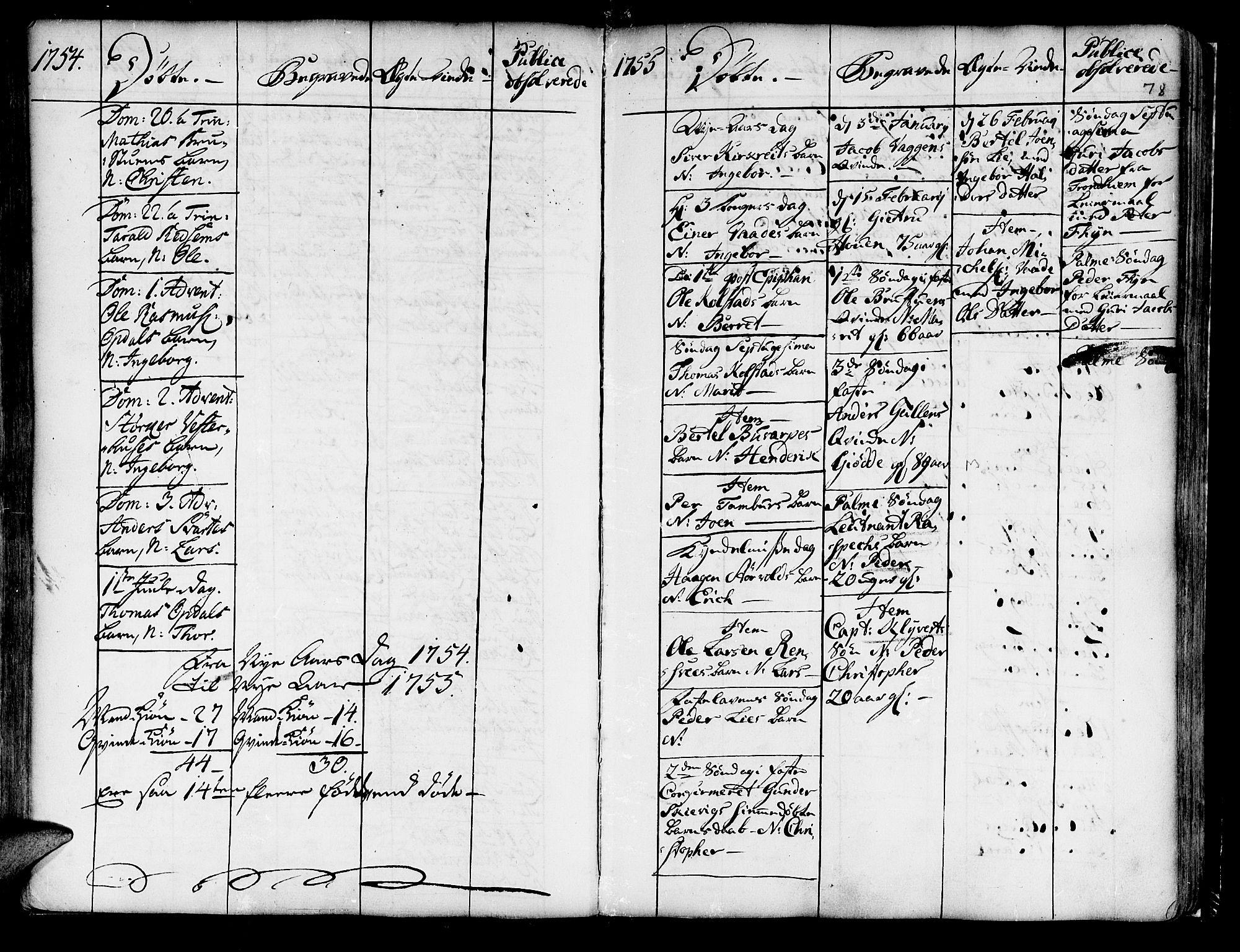 SAT, Ministerialprotokoller, klokkerbøker og fødselsregistre - Nord-Trøndelag, 741/L0385: Ministerialbok nr. 741A01, 1722-1815, s. 78