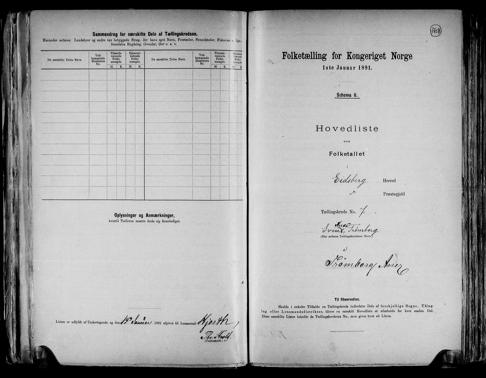 RA, Folketelling 1891 for 0125 Eidsberg herred, 1891, s. 20
